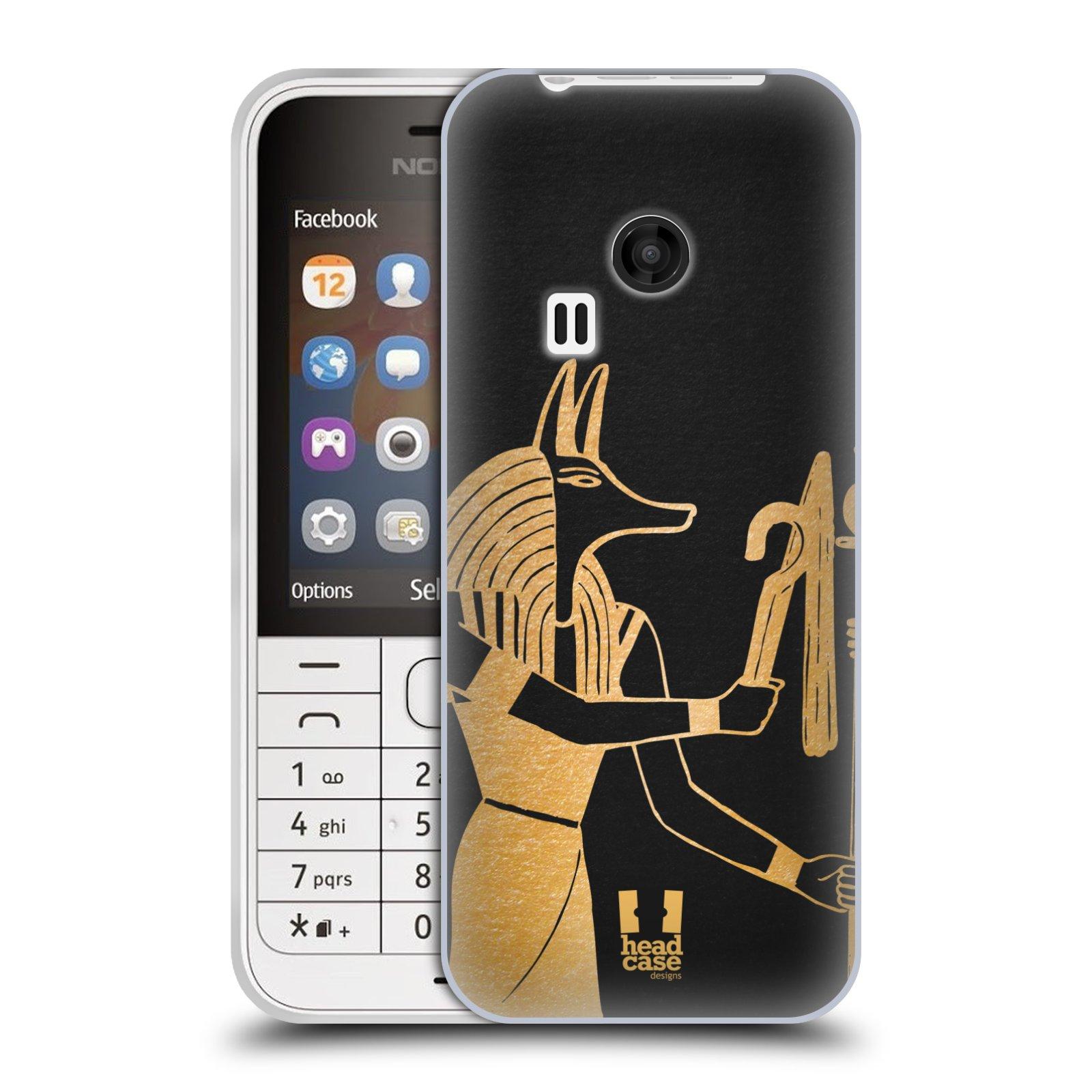 Silikonové pouzdro na mobil Nokia 220 HEAD CASE EGYPT ANUBIS (Silikonový kryt či obal na mobilní telefon Nokia 220 a 220 Dual SIM)