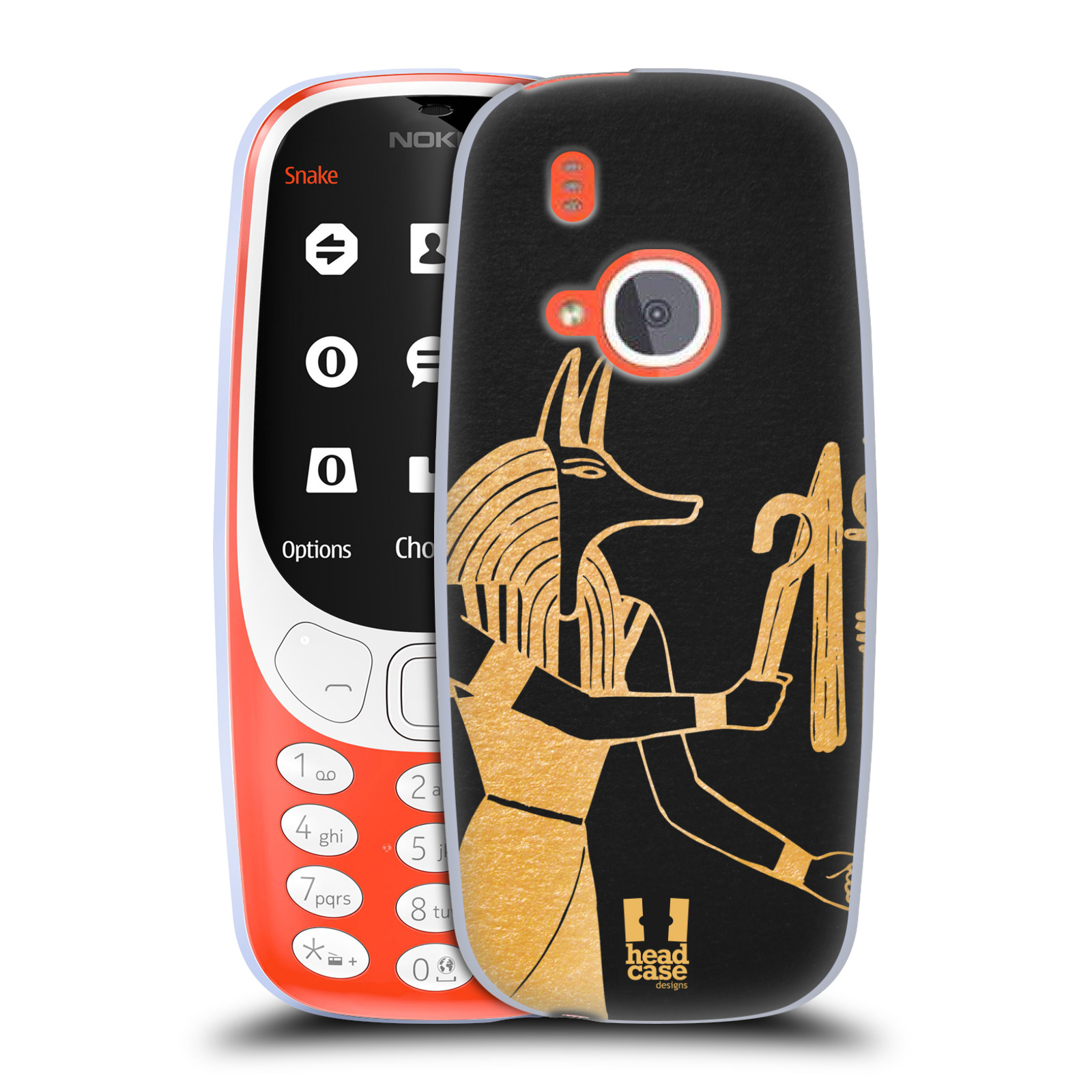 Silikonové pouzdro na mobil Nokia 3310 - Head Case - EGYPT ANUBIS (Silikonový kryt či obal na mobilní telefon Nokia 3310 (2017) s motivem EGYPT ANUBIS)