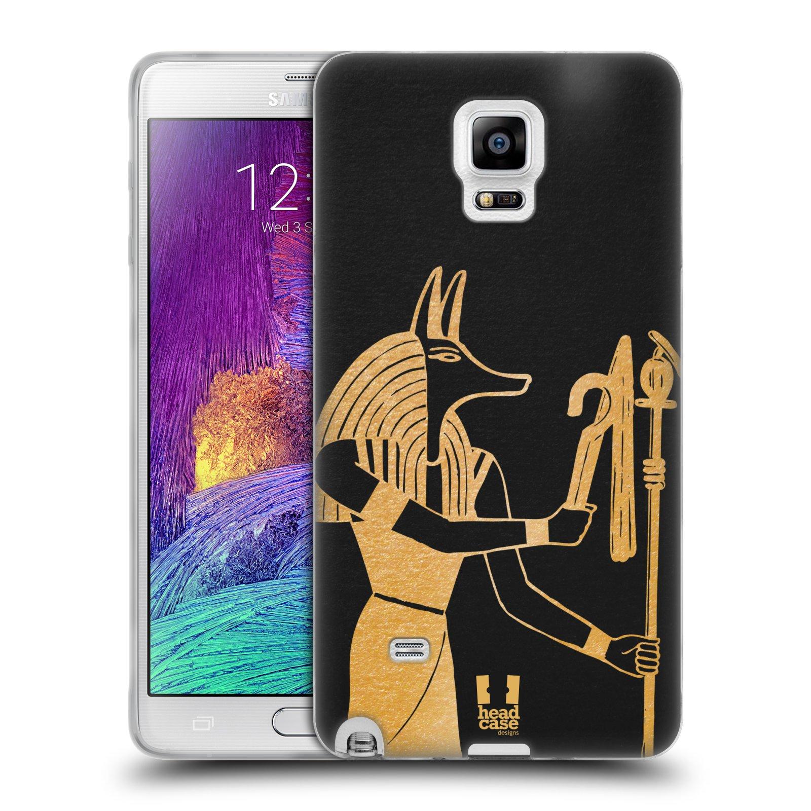 Silikonové pouzdro na mobil Samsung Galaxy Note 4 HEAD CASE EGYPT ANUBIS (Silikonový kryt či obal na mobilní telefon Samsung Galaxy Note 4 SM-N910F)
