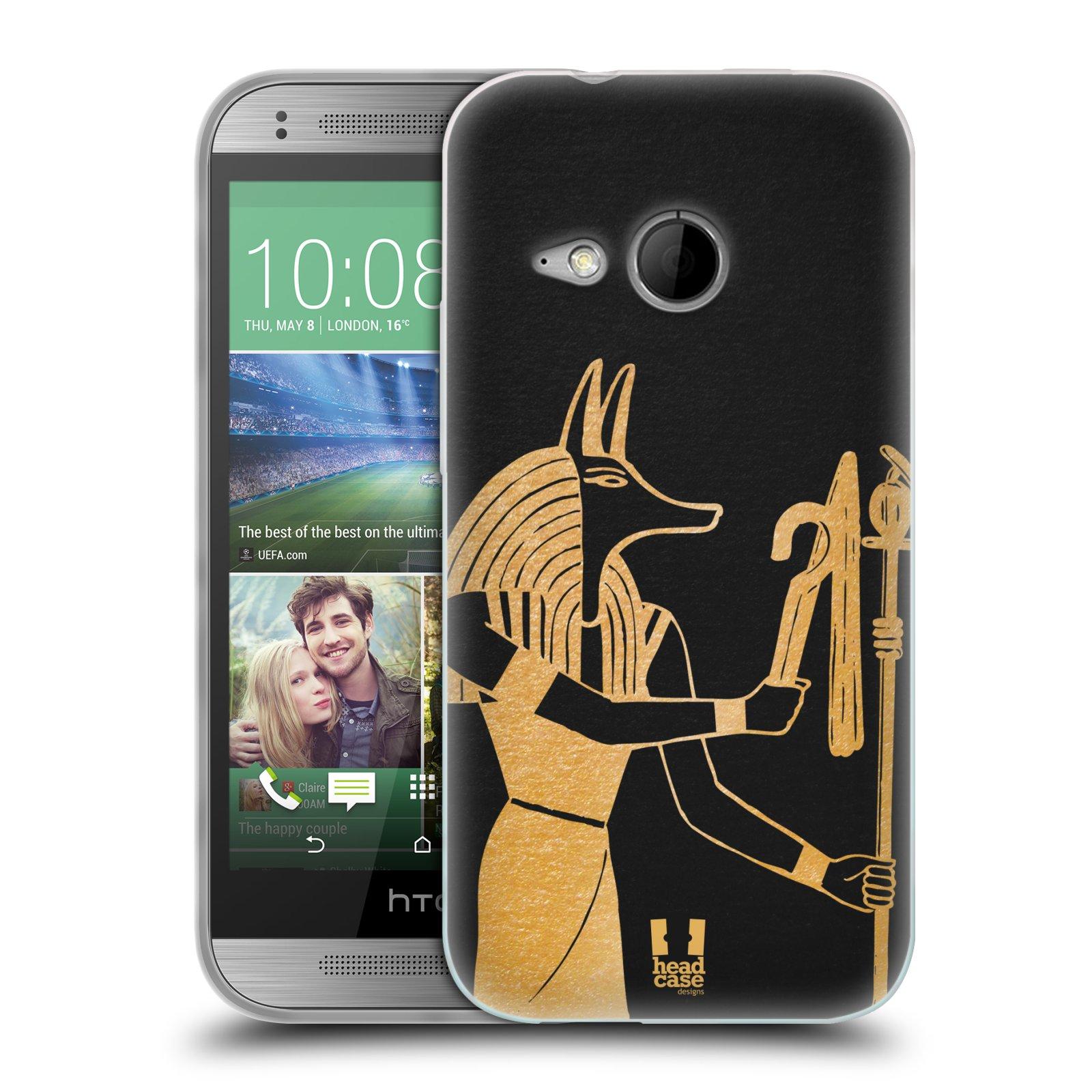 Silikonové pouzdro na mobil HTC ONE Mini 2 HEAD CASE EGYPT ANUBIS (Silikonový kryt či obal na mobilní telefon HTC ONE Mini 2)