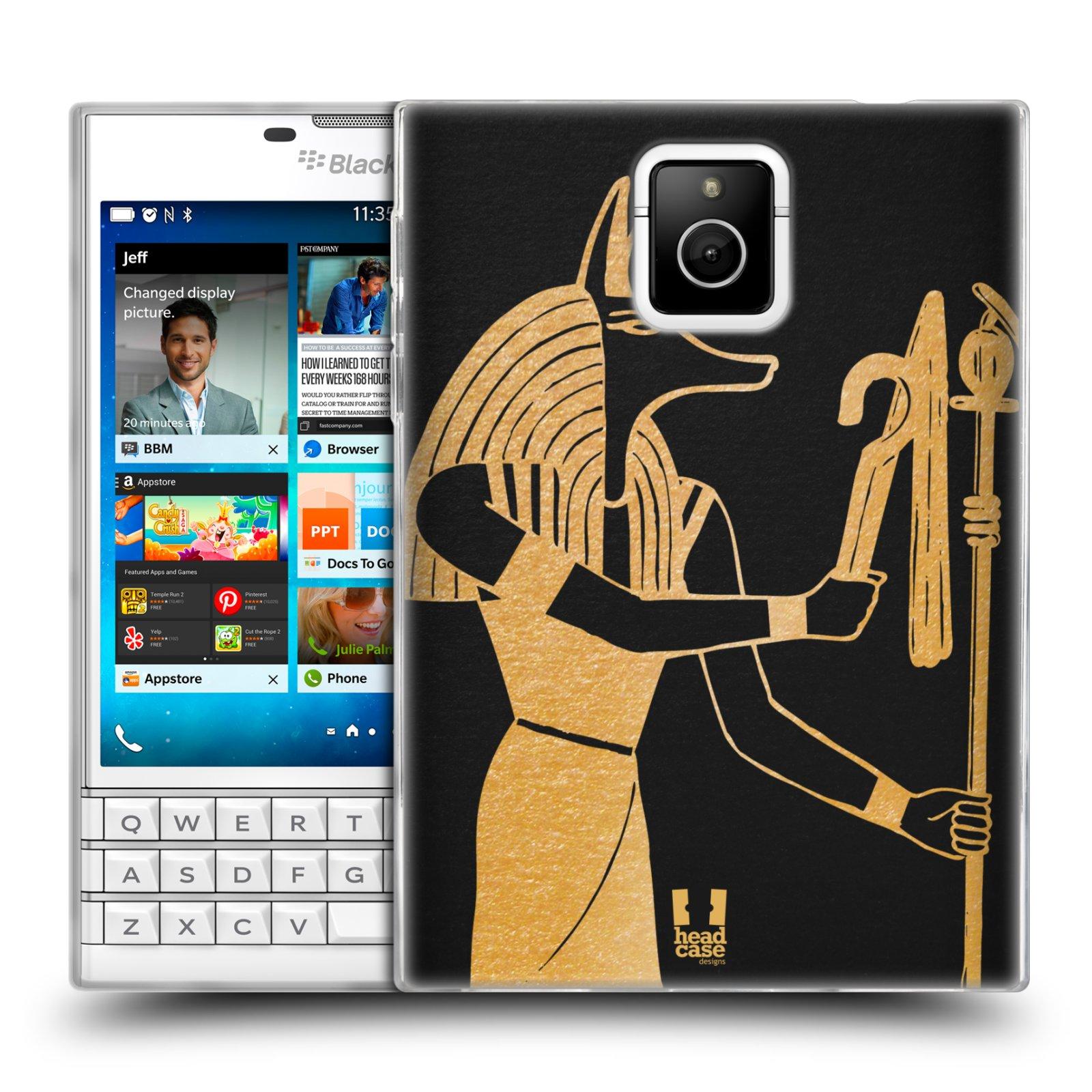 Silikonové pouzdro na mobil Blackberry PASSPORT HEAD CASE EGYPT ANUBIS (Silikonový kryt či obal na mobilní telefon Blackberry PASSPORT)