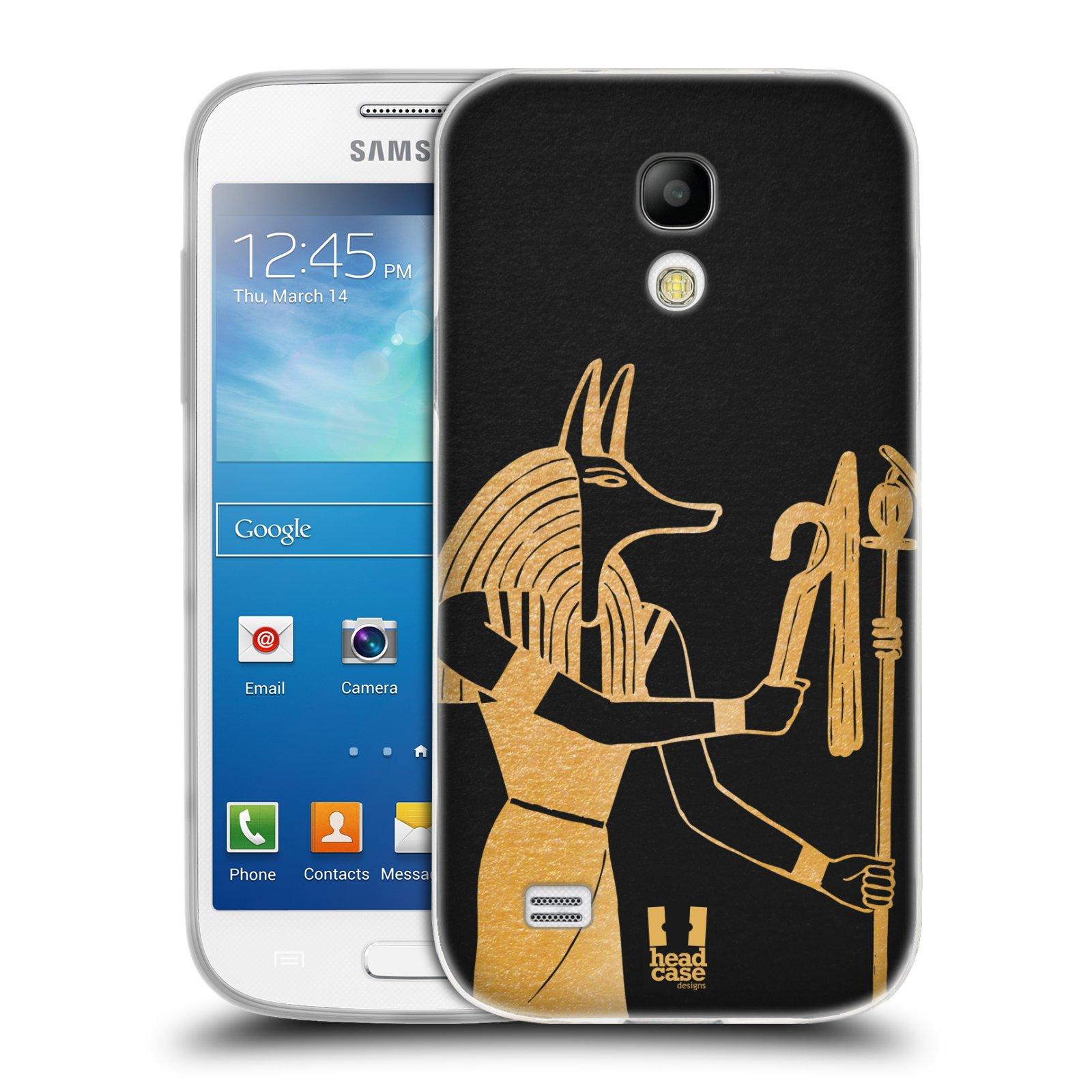 Silikonové pouzdro na mobil Samsung Galaxy S4 Mini HEAD CASE EGYPT ANUBIS (Silikonový kryt či obal na mobilní telefon Samsung Galaxy S4 Mini GT-i9195 / i9190 (nepasuje na verzi Black Edition))