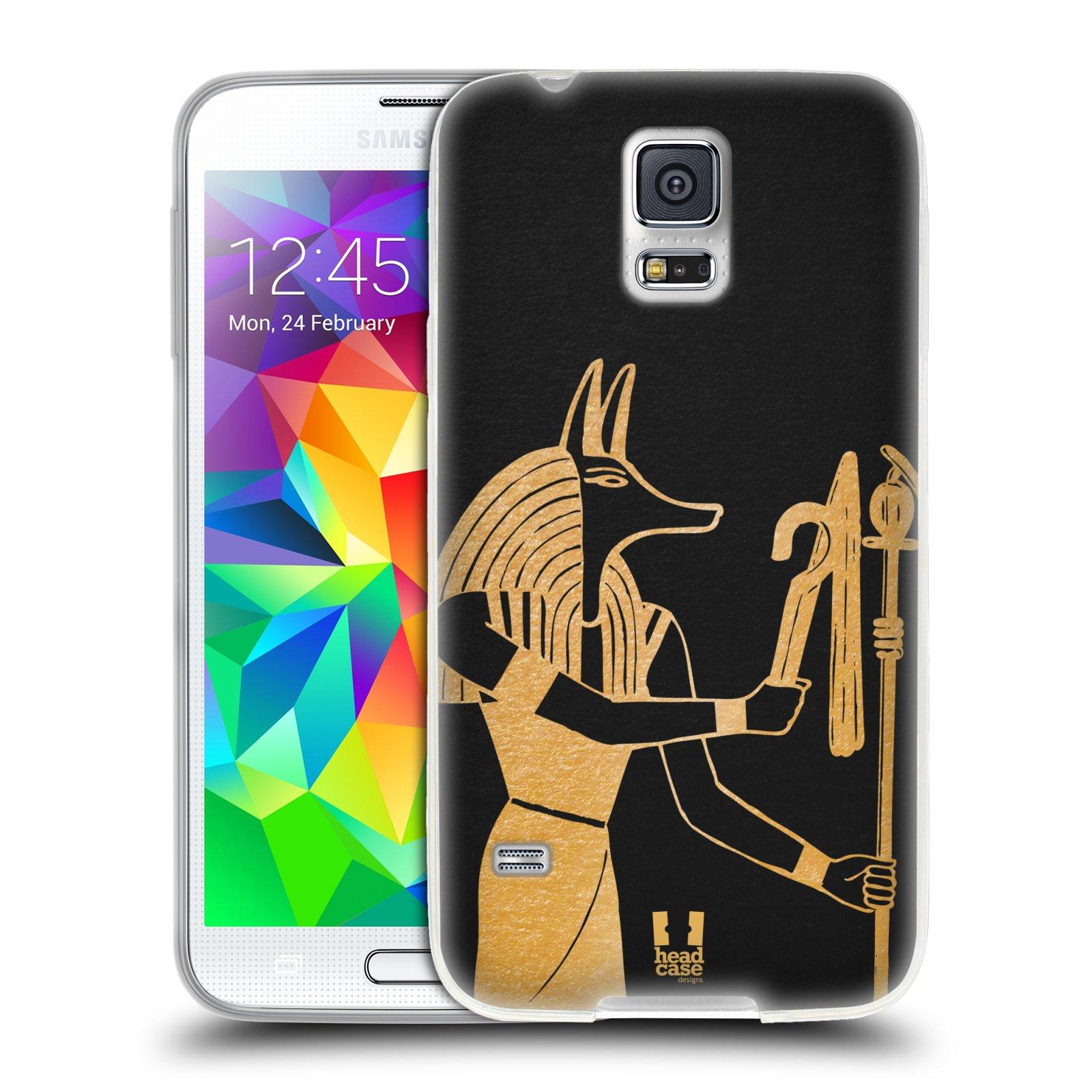 Silikonové pouzdro na mobil Samsung Galaxy S5 HEAD CASE EGYPT ANUBIS (Silikonový kryt či obal na mobilní telefon Samsung Galaxy S5 SM-G900F)