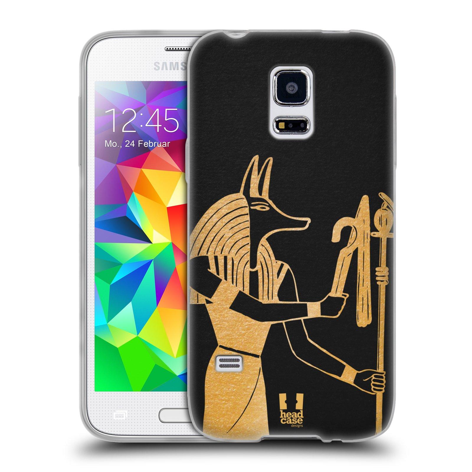 Silikonové pouzdro na mobil Samsung Galaxy S5 Mini HEAD CASE EGYPT ANUBIS (Silikonový kryt či obal na mobilní telefon Samsung Galaxy S5 Mini SM-G800F)