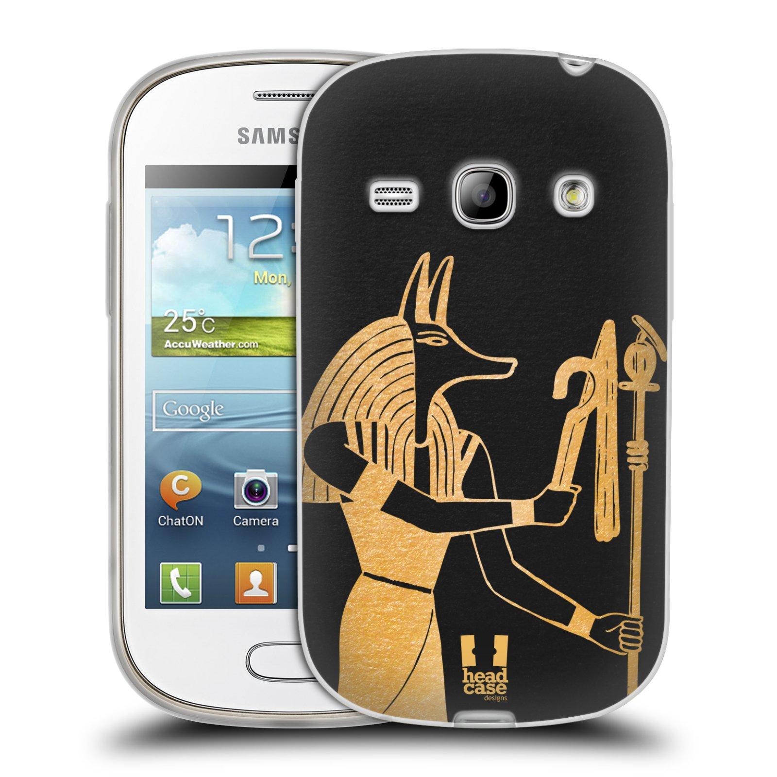 Silikonové pouzdro na mobil Samsung Galaxy Fame HEAD CASE EGYPT ANUBIS (Silikonový kryt či obal na mobilní telefon Samsung Galaxy Fame GT-S6810)