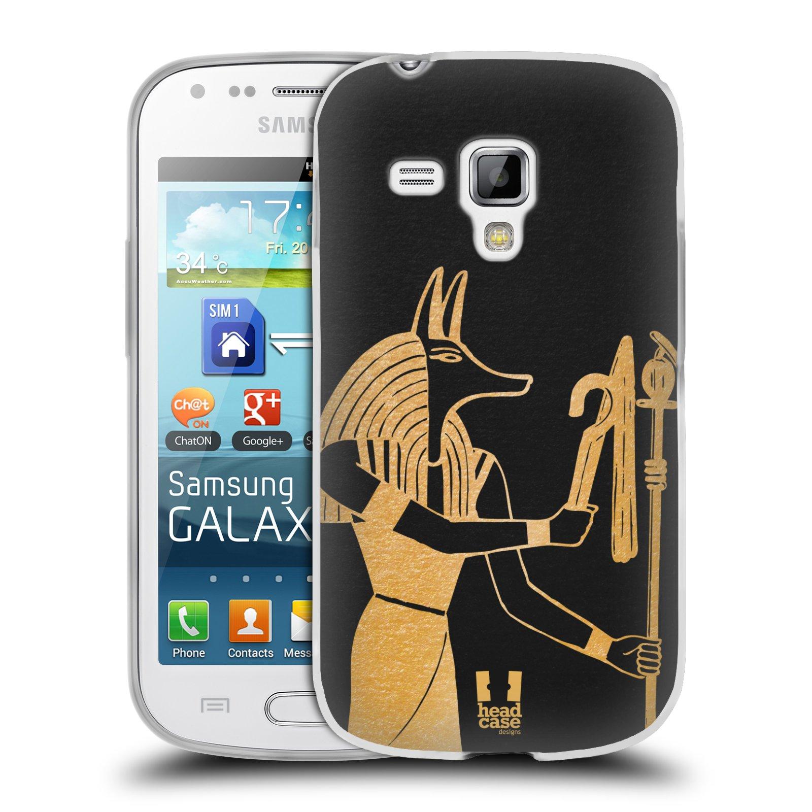 Silikonové pouzdro na mobil Samsung Galaxy Trend HEAD CASE EGYPT ANUBIS (Silikonový kryt či obal na mobilní telefon Samsung Galaxy Trend GT-S7560)