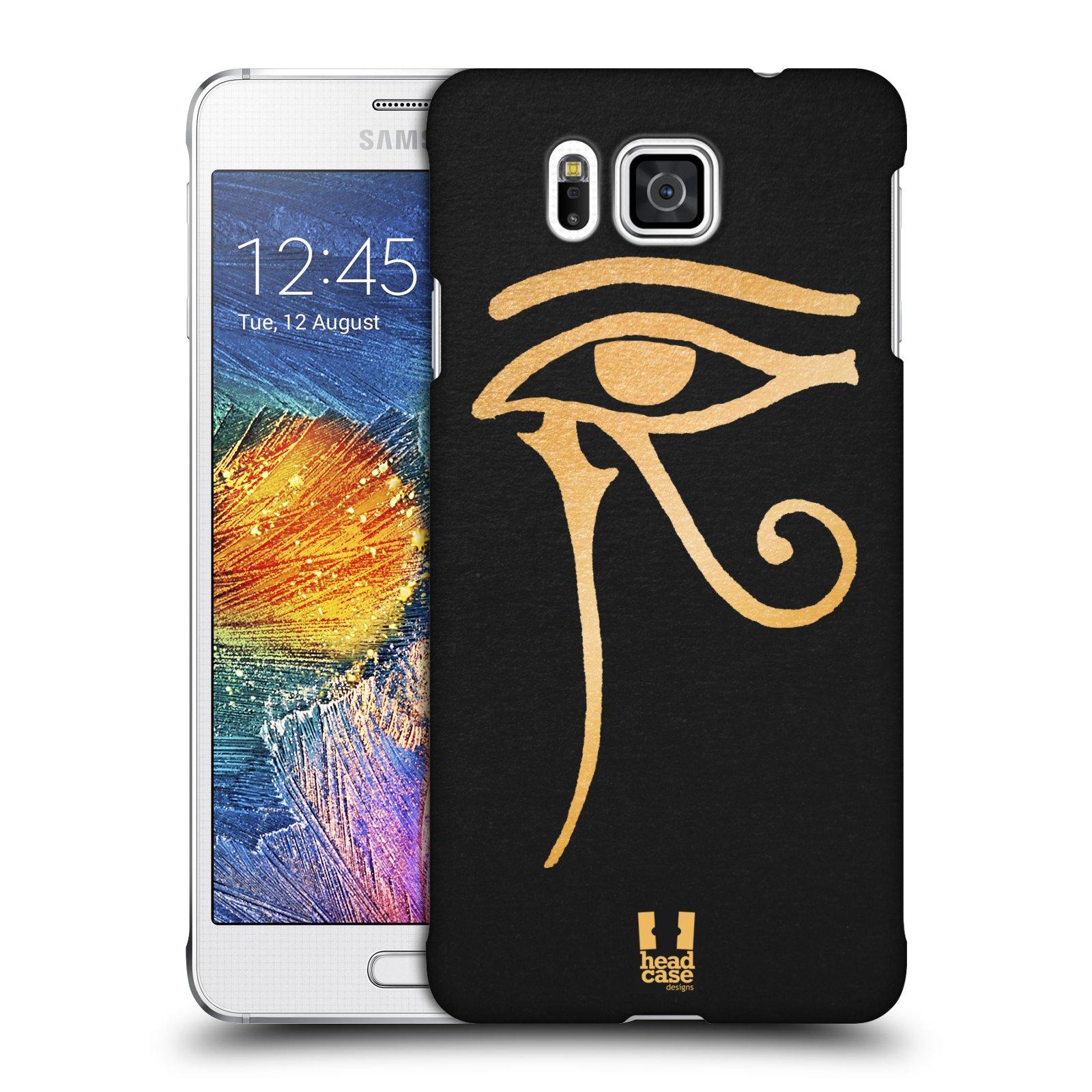 Plastové pouzdro na mobil Samsung Galaxy Alpha HEAD CASE EGYPT OKO BOHA RA
