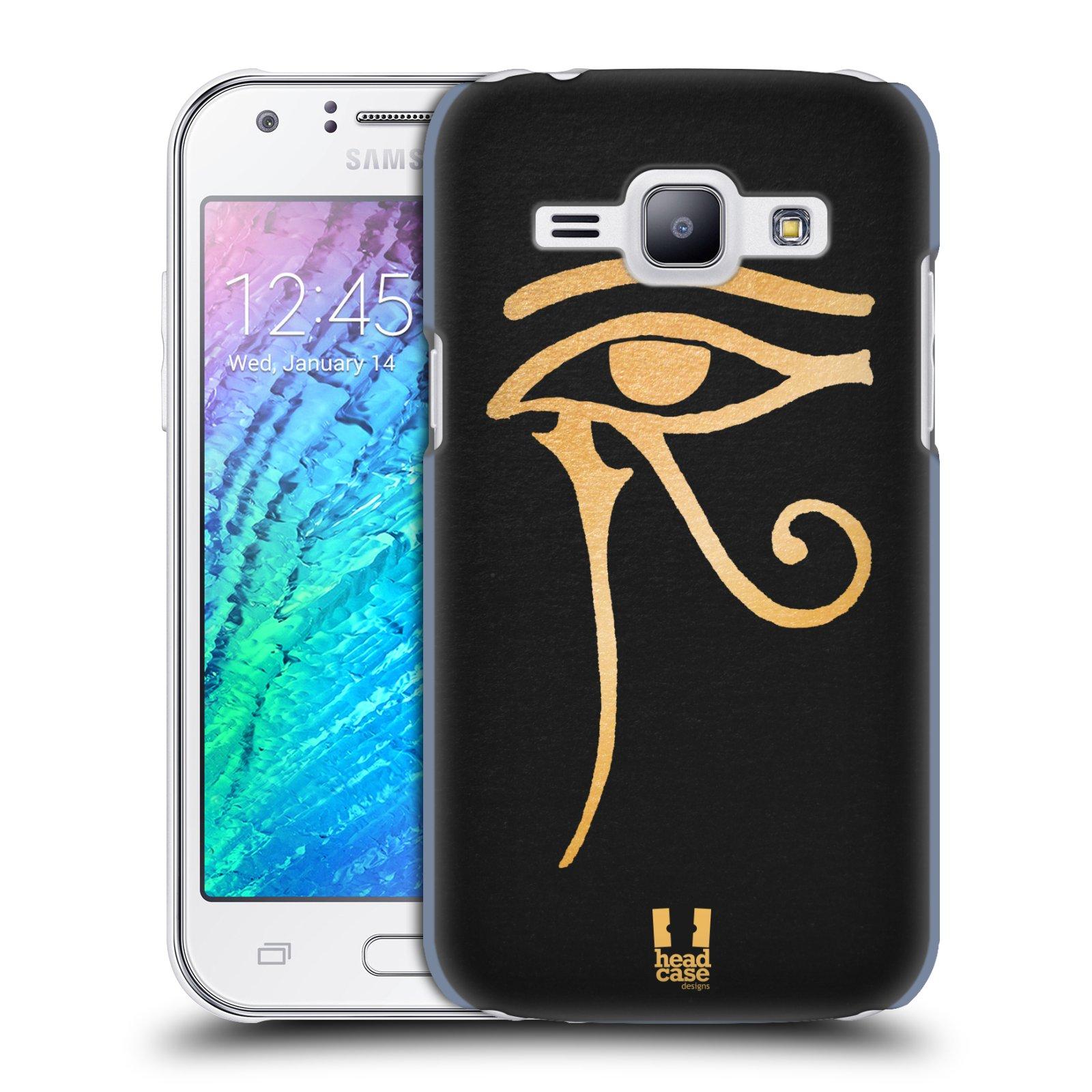 Plastové pouzdro na mobil Samsung Galaxy J1 HEAD CASE EGYPT OKO BOHA RA (Kryt či obal na mobilní telefon Samsung Galaxy J1 a J1 Duos )