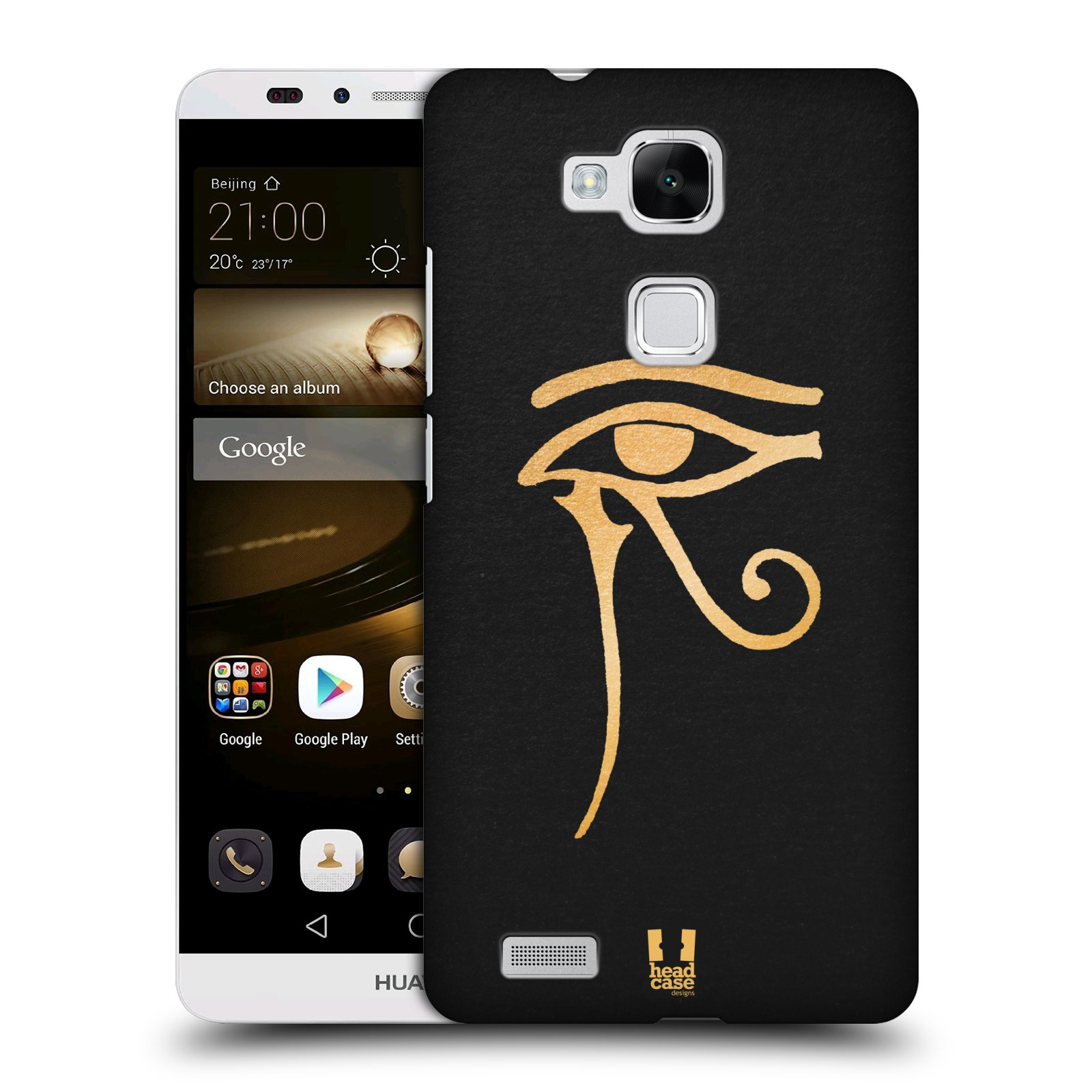 Plastové pouzdro na mobil Huawei Ascend Mate 7 HEAD CASE EGYPT OKO BOHA RA (Kryt či obal na mobilní telefon Huawei Ascend Mate7)