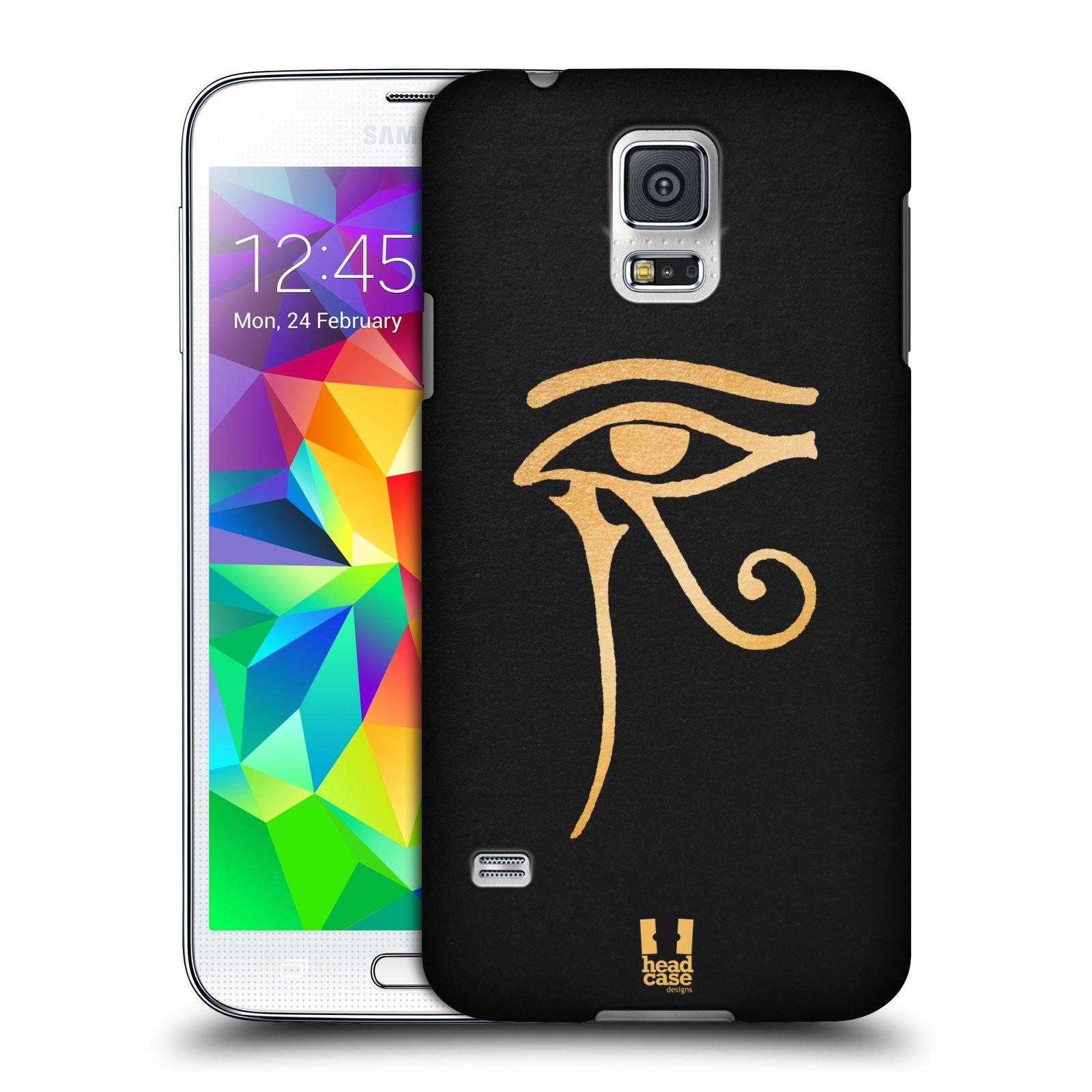 Plastové pouzdro na mobil Samsung Galaxy S5 HEAD CASE EGYPT OKO BOHA RA