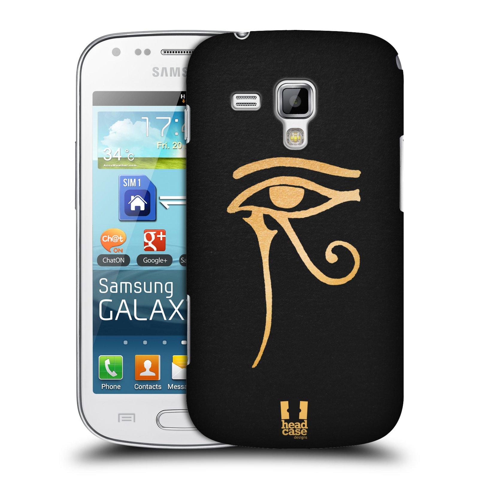 Plastové pouzdro na mobil Samsung Galaxy S Duos HEAD CASE EGYPT OKO BOHA RA (Kryt či obal na mobilní telefon Samsung Galaxy S Duos GT-S7562)