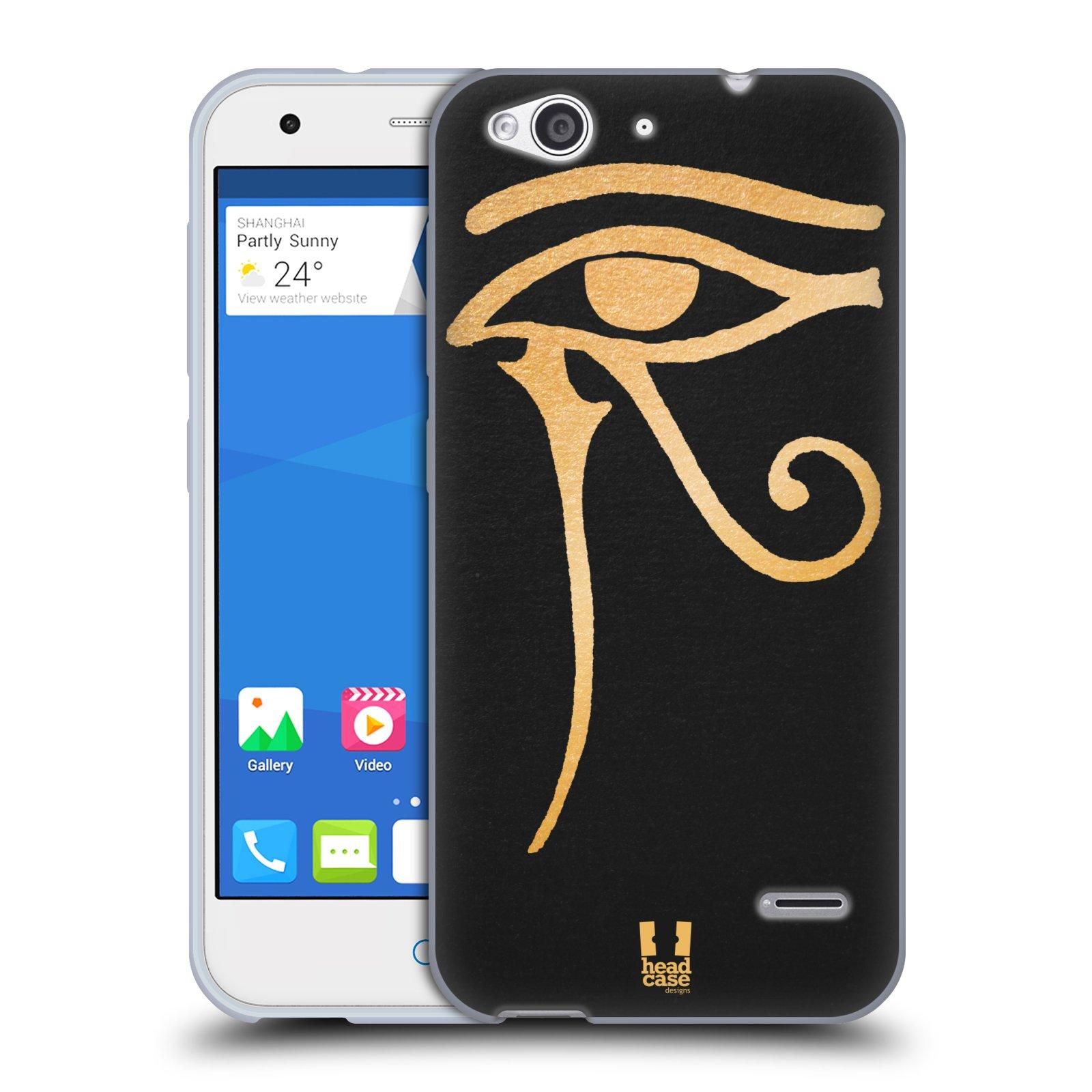Silikonové pouzdro na mobil ZTE Blade S6 HEAD CASE EGYPT OKO BOHA RA