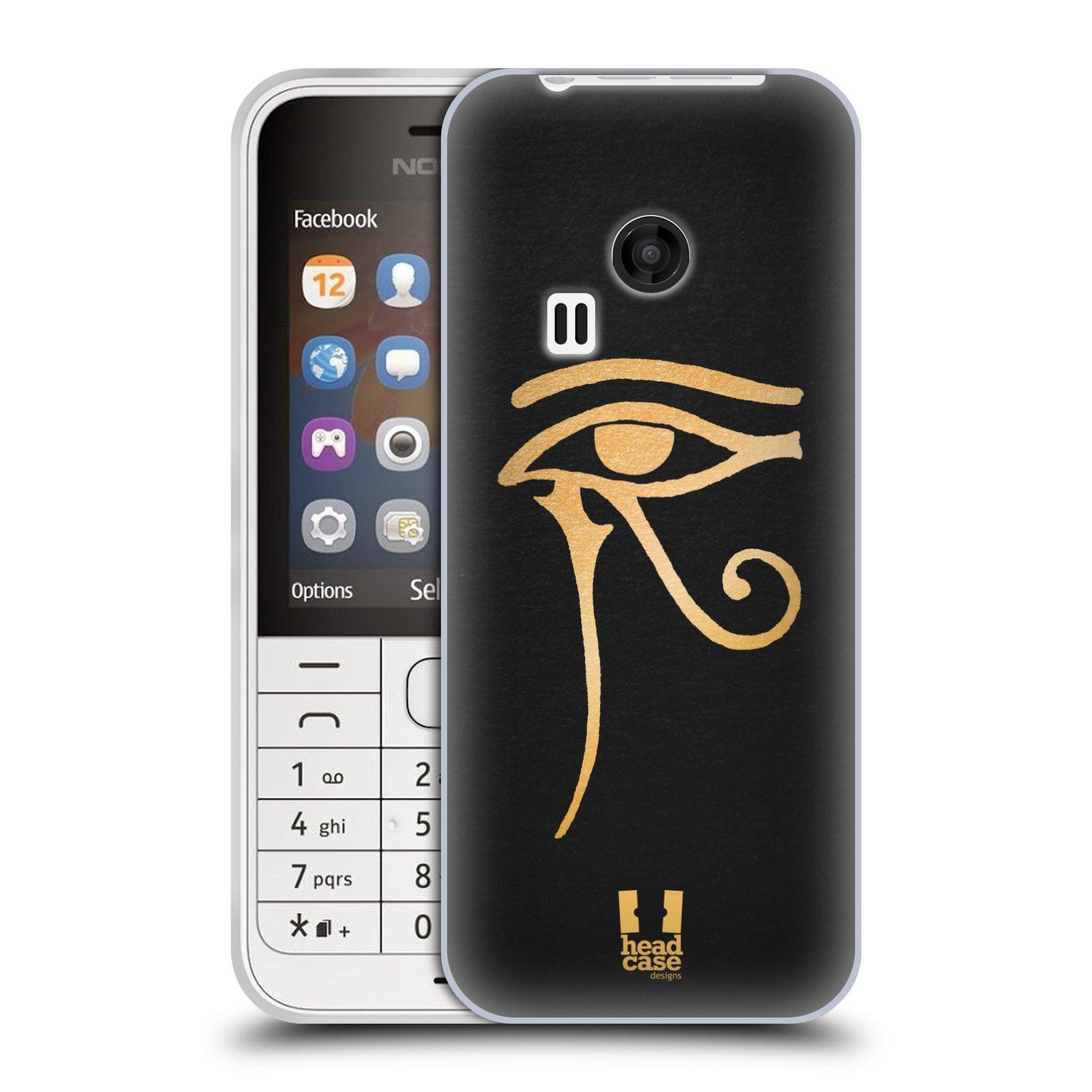 Silikonové pouzdro na mobil Nokia 220 HEAD CASE EGYPT OKO BOHA RA (Silikonový kryt či obal na mobilní telefon Nokia 220 a 220 Dual SIM)