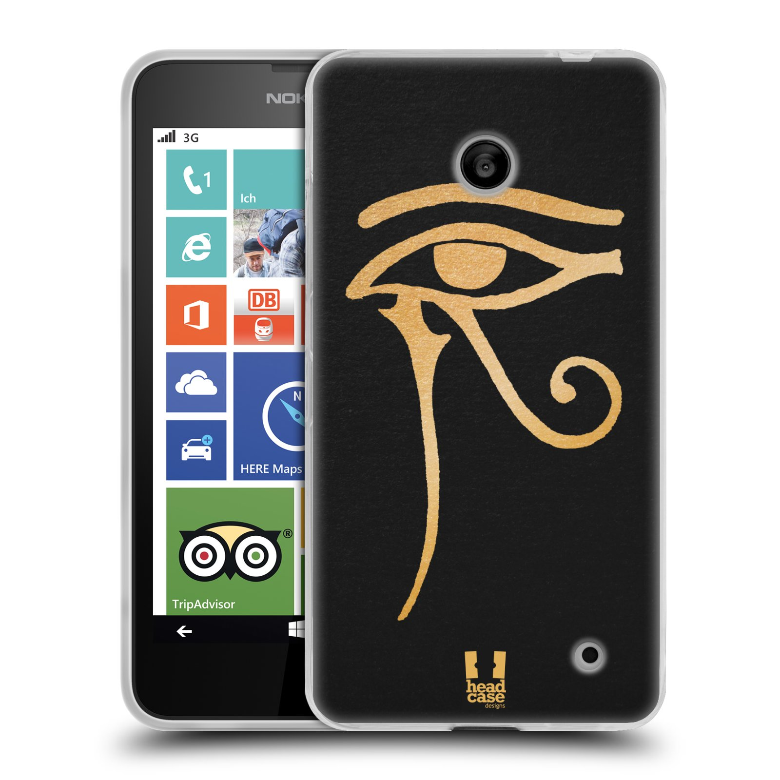 Silikonové pouzdro na mobil Nokia Lumia 630 HEAD CASE EGYPT OKO BOHA RA