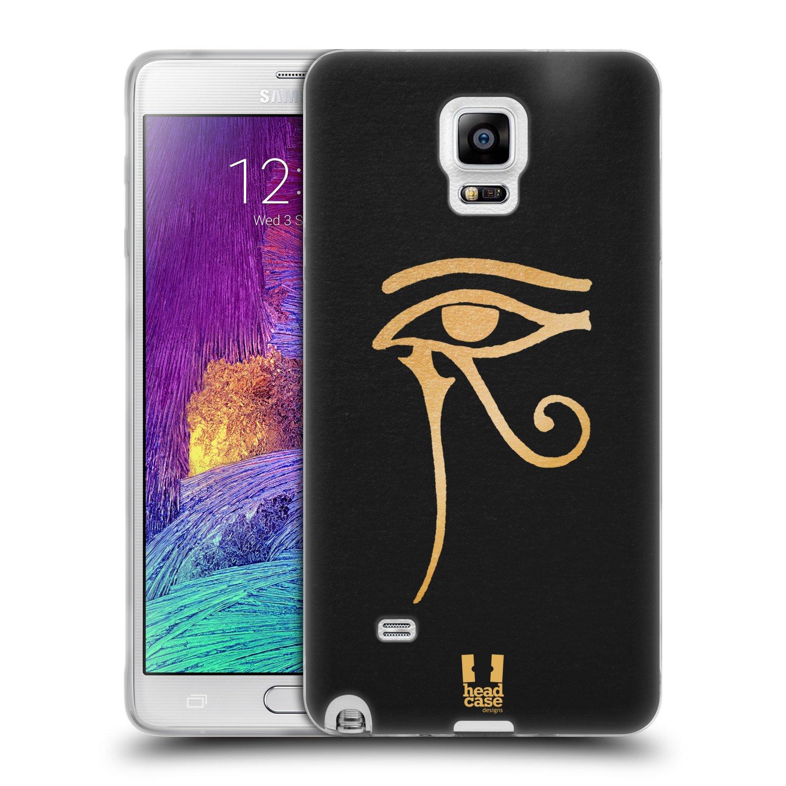 Silikonové pouzdro na mobil Samsung Galaxy Note 4 HEAD CASE EGYPT OKO BOHA RA (Silikonový kryt či obal na mobilní telefon Samsung Galaxy Note 4 SM-N910F)