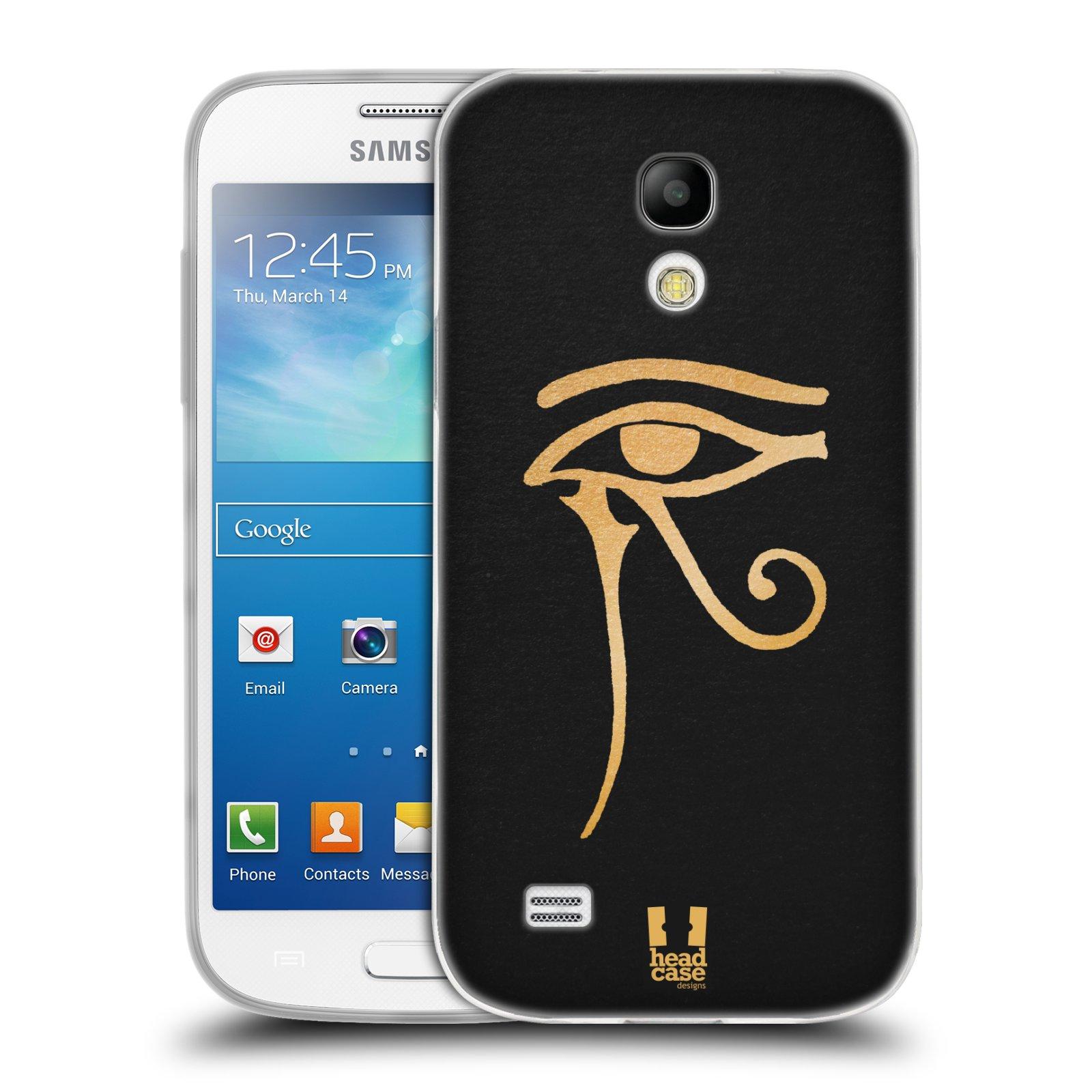Silikonové pouzdro na mobil Samsung Galaxy S4 Mini HEAD CASE EGYPT OKO BOHA RA (Silikonový kryt či obal na mobilní telefon Samsung Galaxy S4 Mini GT-i9195 / i9190 (nepasuje na verzi Black Edition))