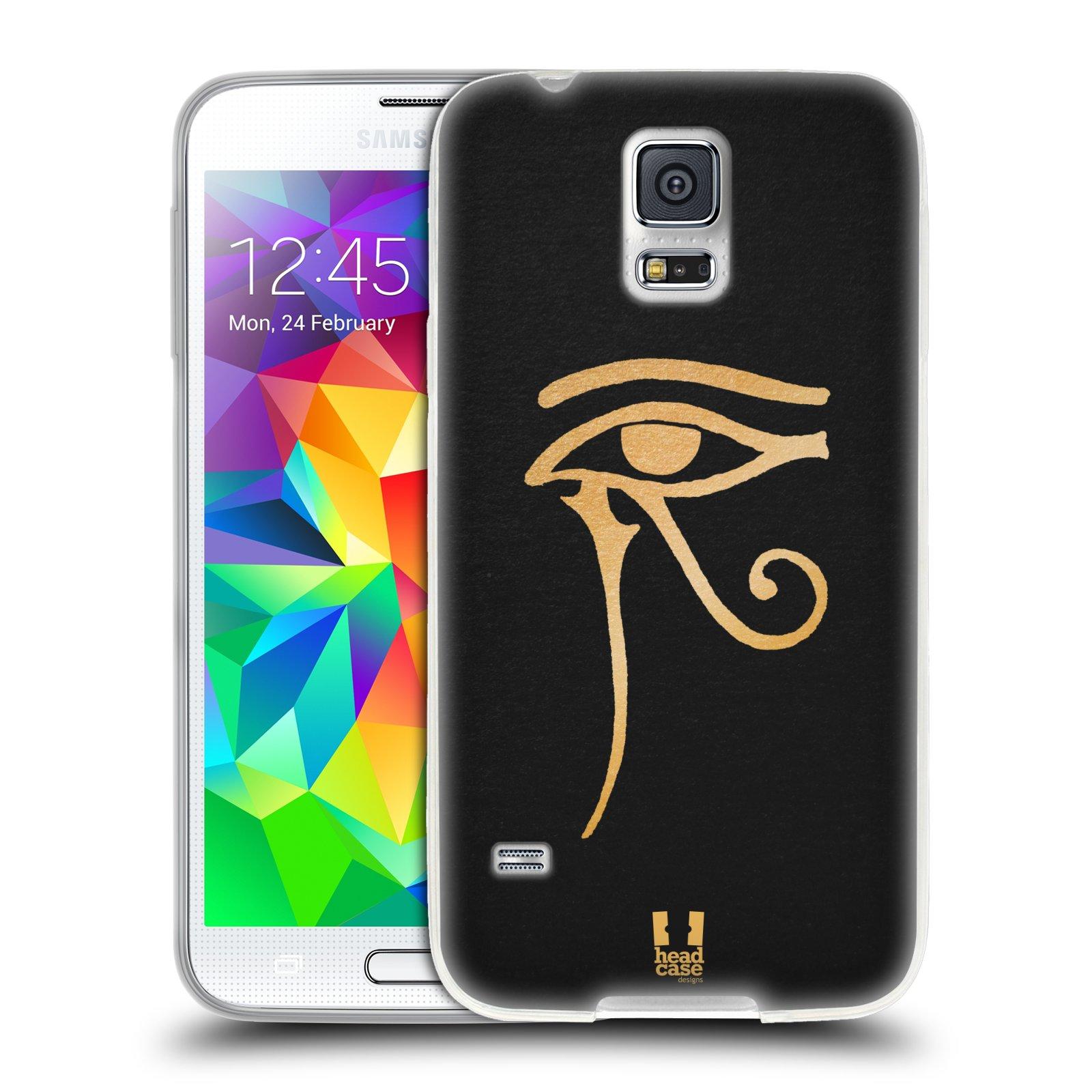 Silikonové pouzdro na mobil Samsung Galaxy S5 HEAD CASE EGYPT OKO BOHA RA (Silikonový kryt či obal na mobilní telefon Samsung Galaxy S5 SM-G900F)