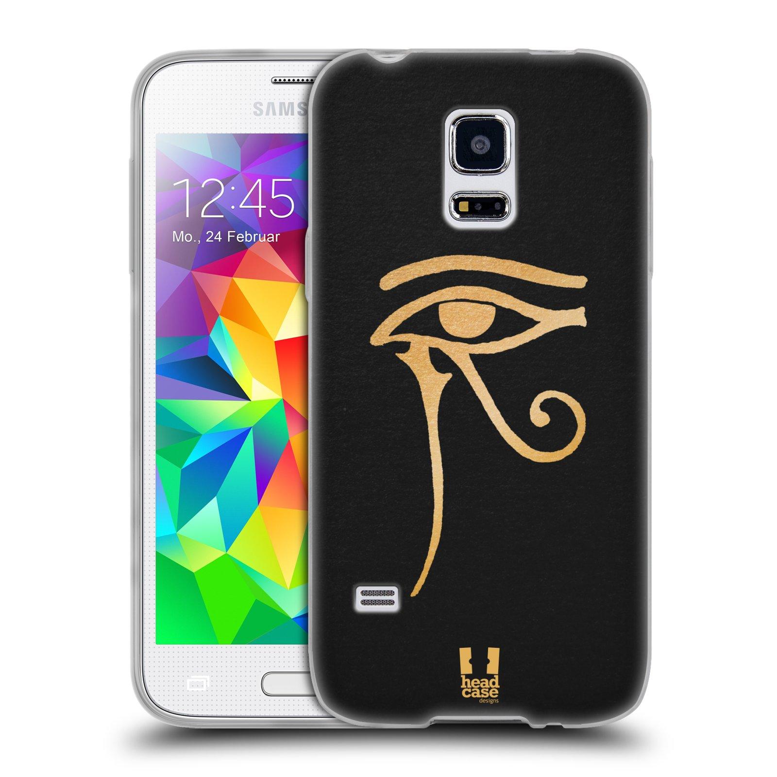 Silikonové pouzdro na mobil Samsung Galaxy S5 Mini HEAD CASE EGYPT OKO BOHA RA (Silikonový kryt či obal na mobilní telefon Samsung Galaxy S5 Mini SM-G800F)