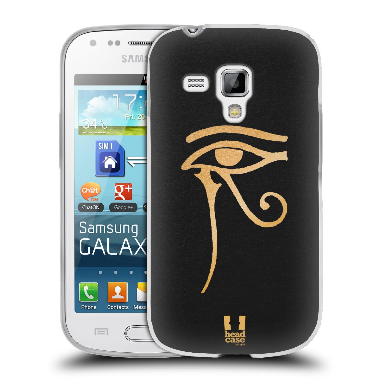 Silikonové pouzdro na mobil Samsung Galaxy Trend HEAD CASE EGYPT OKO BOHA RA (Silikonový kryt či obal na mobilní telefon Samsung Galaxy Trend GT-S7560)