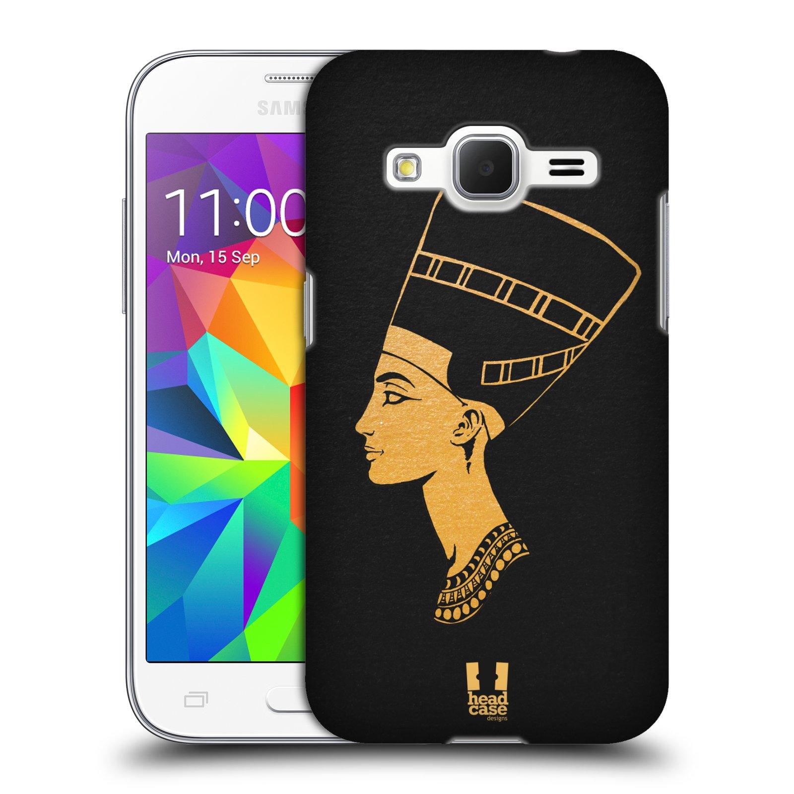 Plastové pouzdro na mobil Samsung Galaxy Core Prime VE HEAD CASE EGYPT NEFERTITI (Kryt či obal na mobilní telefon Samsung Galaxy Core Prime LTE VE SM-G361F)