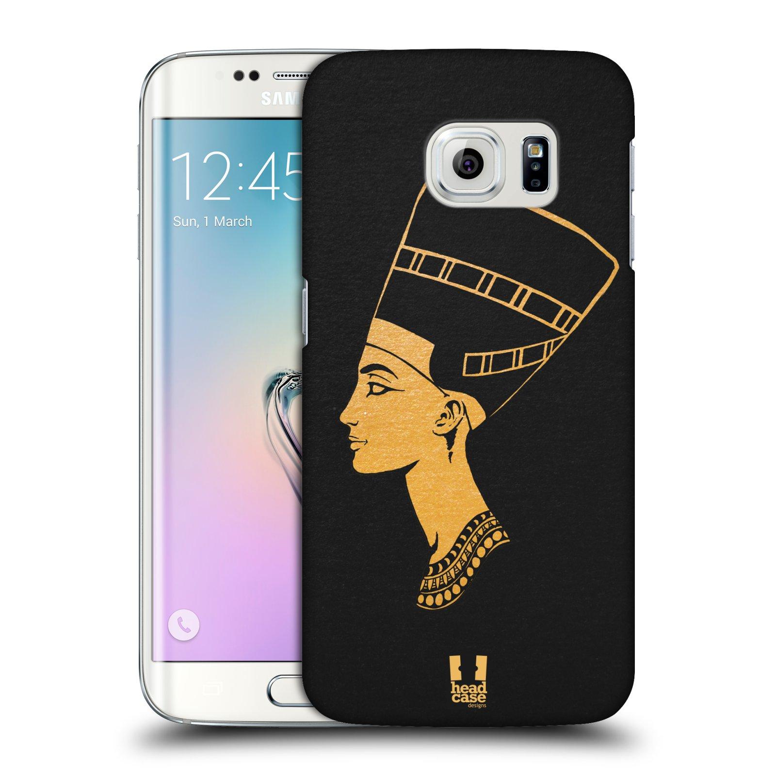 Plastové pouzdro na mobil Samsung Galaxy S6 Edge HEAD CASE EGYPT NEFERTITI (Kryt či obal na mobilní telefon Samsung Galaxy S6 Edge SM-G925F)