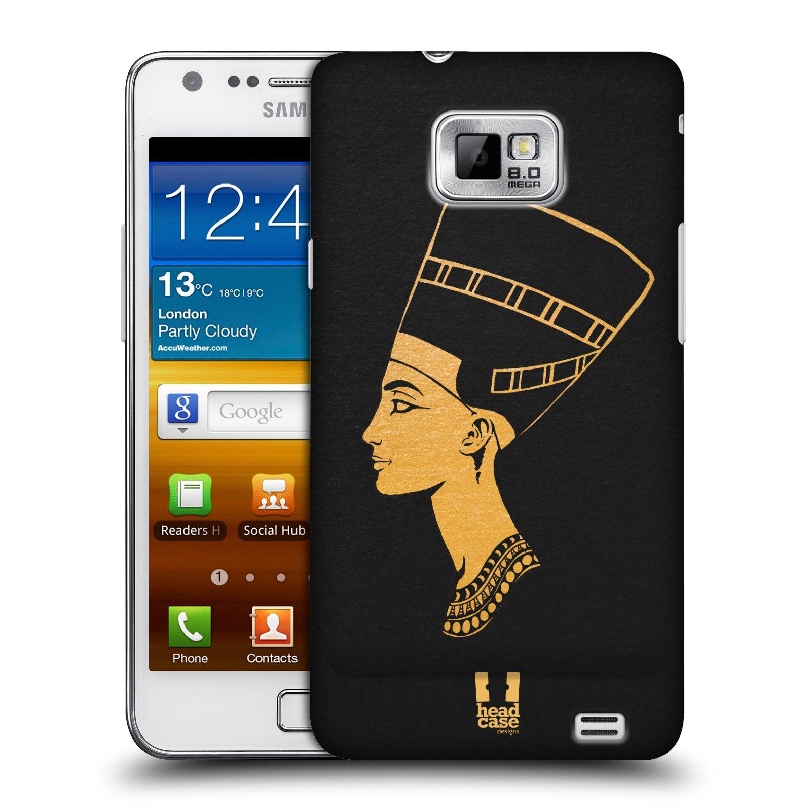 Plastové pouzdro na mobil Samsung Galaxy S II HEAD CASE EGYPT NEFERTITI (Kryt či obal na mobilní telefon Samsung Galaxy S II GT-i9100)