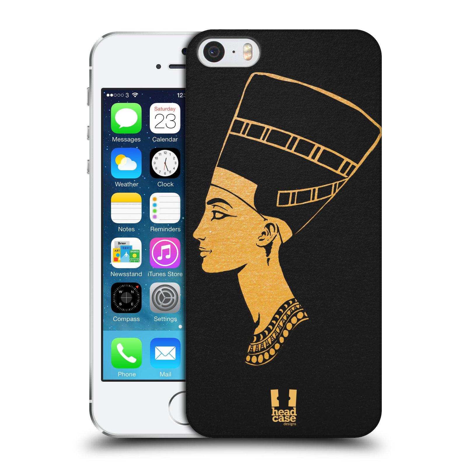 Plastové pouzdro na mobil Apple iPhone SE, 5 a 5S HEAD CASE EGYPT NEFERTITI