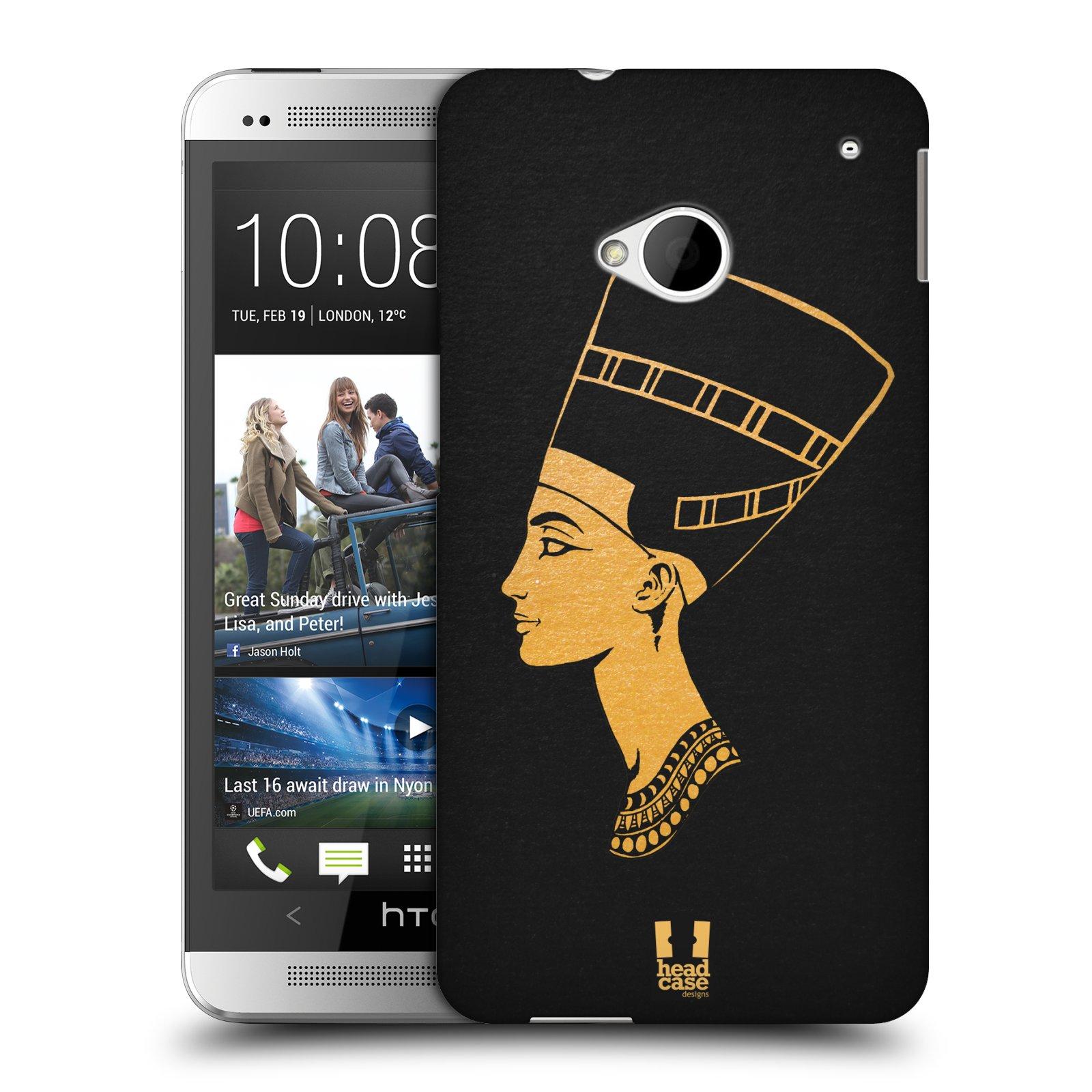 Plastové pouzdro na mobil HTC ONE M7 HEAD CASE EGYPT NEFERTITI (Kryt či obal na mobilní telefon HTC ONE M7)