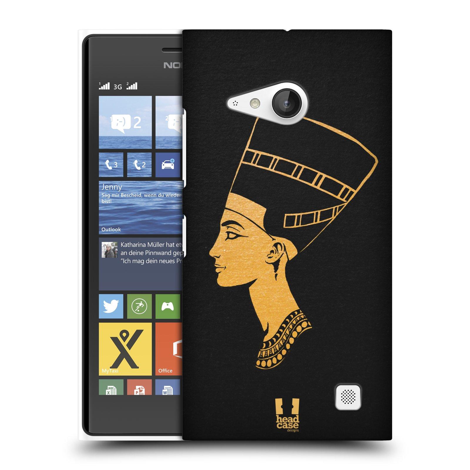Plastové pouzdro na mobil Nokia Lumia 735 HEAD CASE EGYPT NEFERTITI (Kryt či obal na mobilní telefon Nokia Lumia 735)