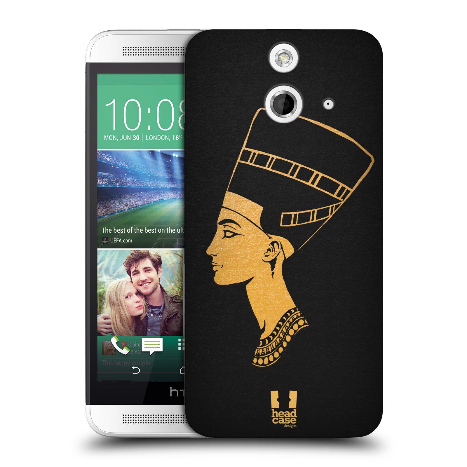 Plastové pouzdro na mobil HTC ONE E8 HEAD CASE EGYPT NEFERTITI (Kryt či obal na mobilní telefon HTC ONE E8)