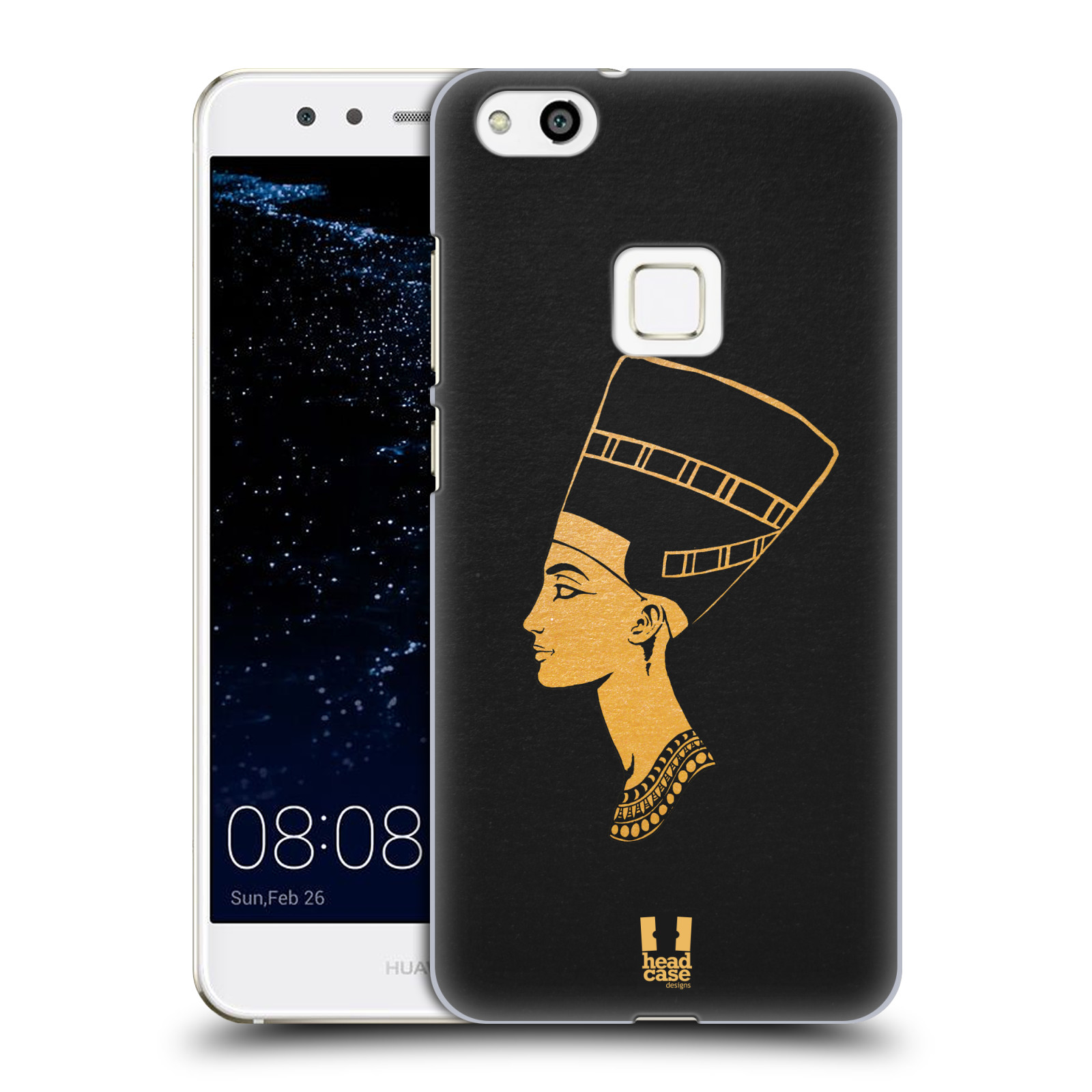 Plastové pouzdro na mobil Huawei P10 Lite Head Case - EGYPT NEFERTITI (Plastový kryt či obal na mobilní telefon Huawei P10 Lite Dual SIM (LX1/LX1A))