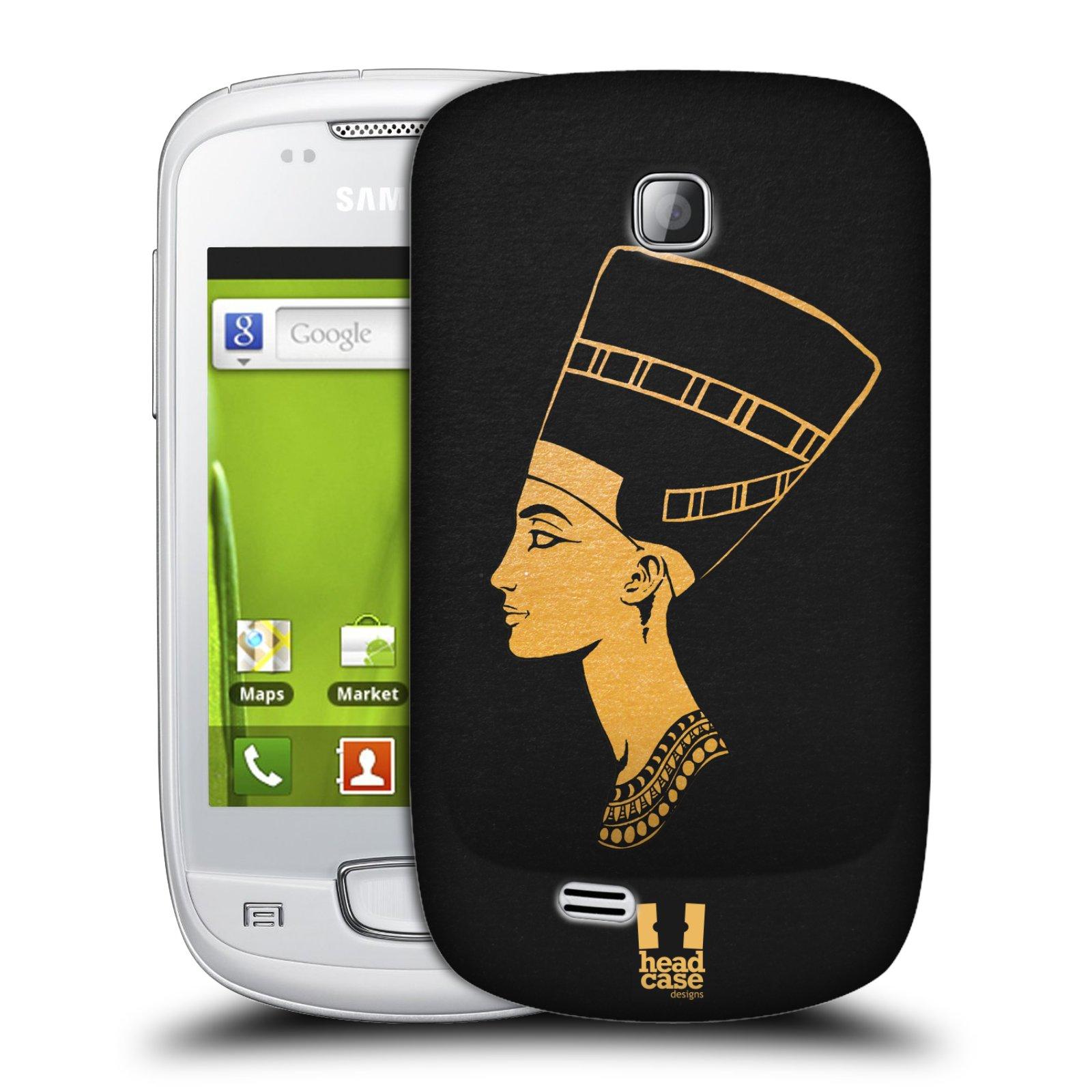 Plastové pouzdro na mobil Samsung Galaxy Mini HEAD CASE EGYPT NEFERTITI (Kryt či obal na mobilní telefon Samsung Galaxy Mini GT-S5570 / GT-S5570i)