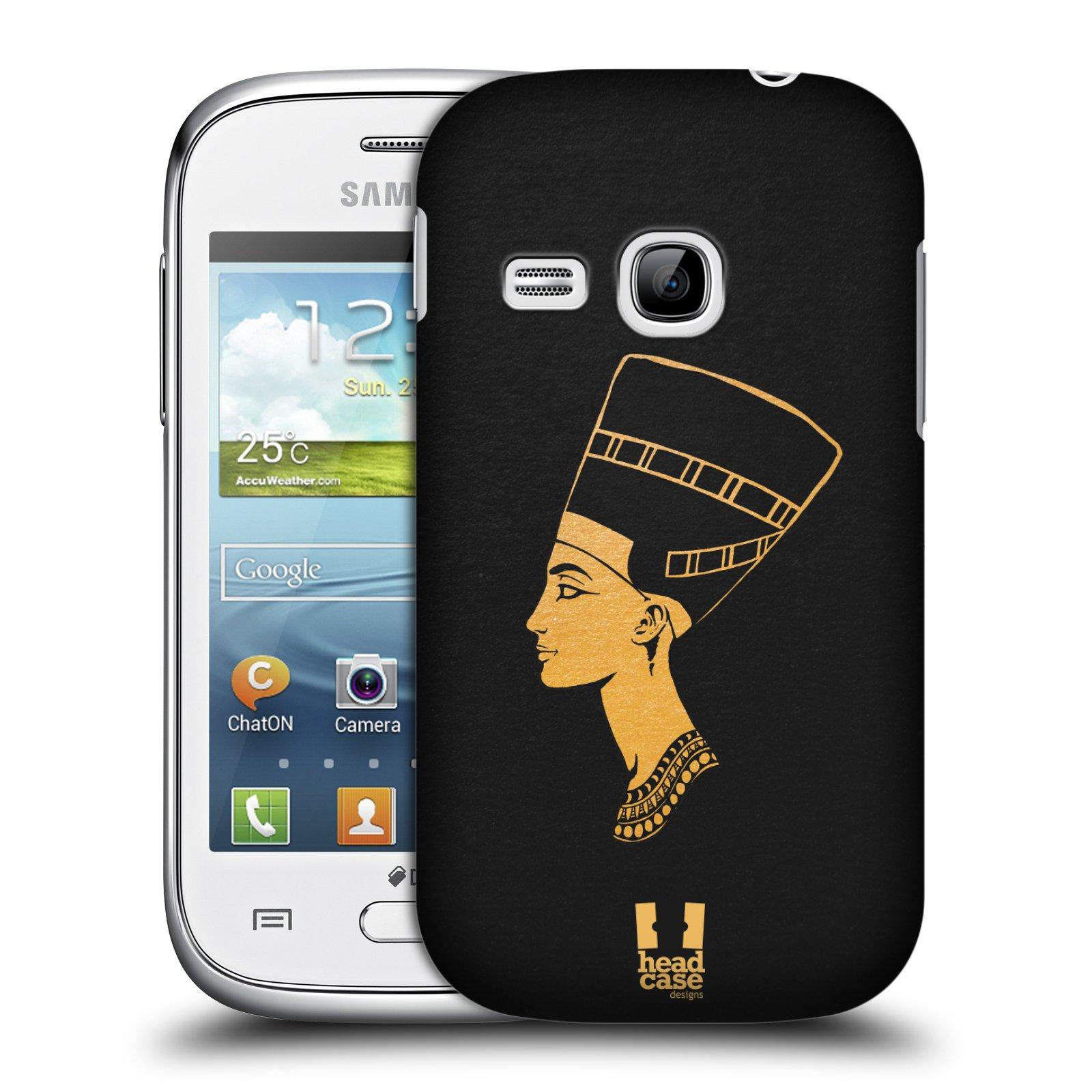 Plastové pouzdro na mobil Samsung Galaxy Young HEAD CASE EGYPT NEFERTITI (Kryt či obal na mobilní telefon Samsung Galaxy Young GT-S6310)