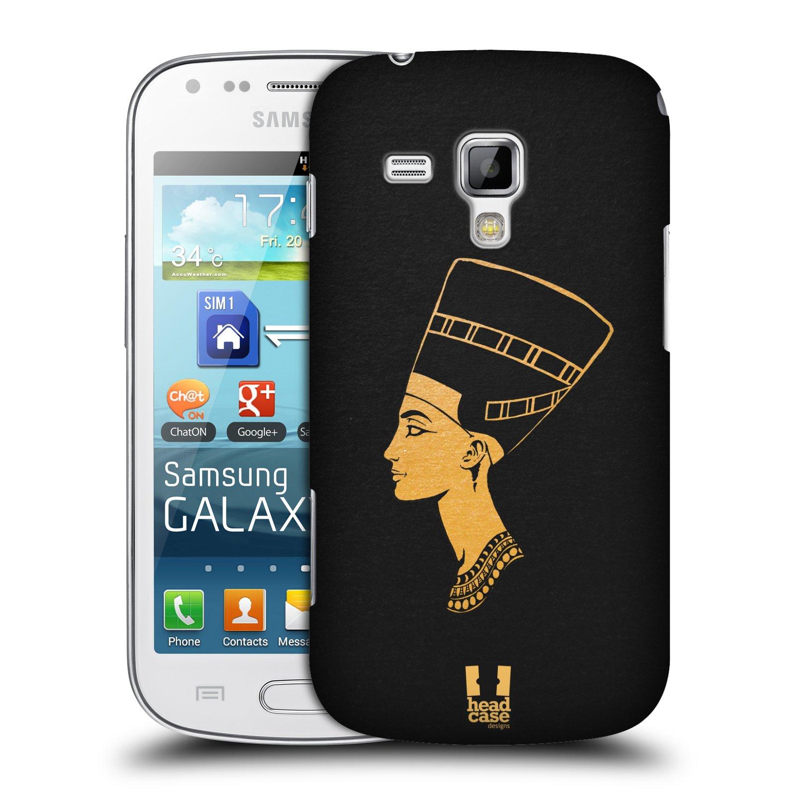Plastové pouzdro na mobil Samsung Galaxy S Duos HEAD CASE EGYPT NEFERTITI (Kryt či obal na mobilní telefon Samsung Galaxy S Duos GT-S7562)