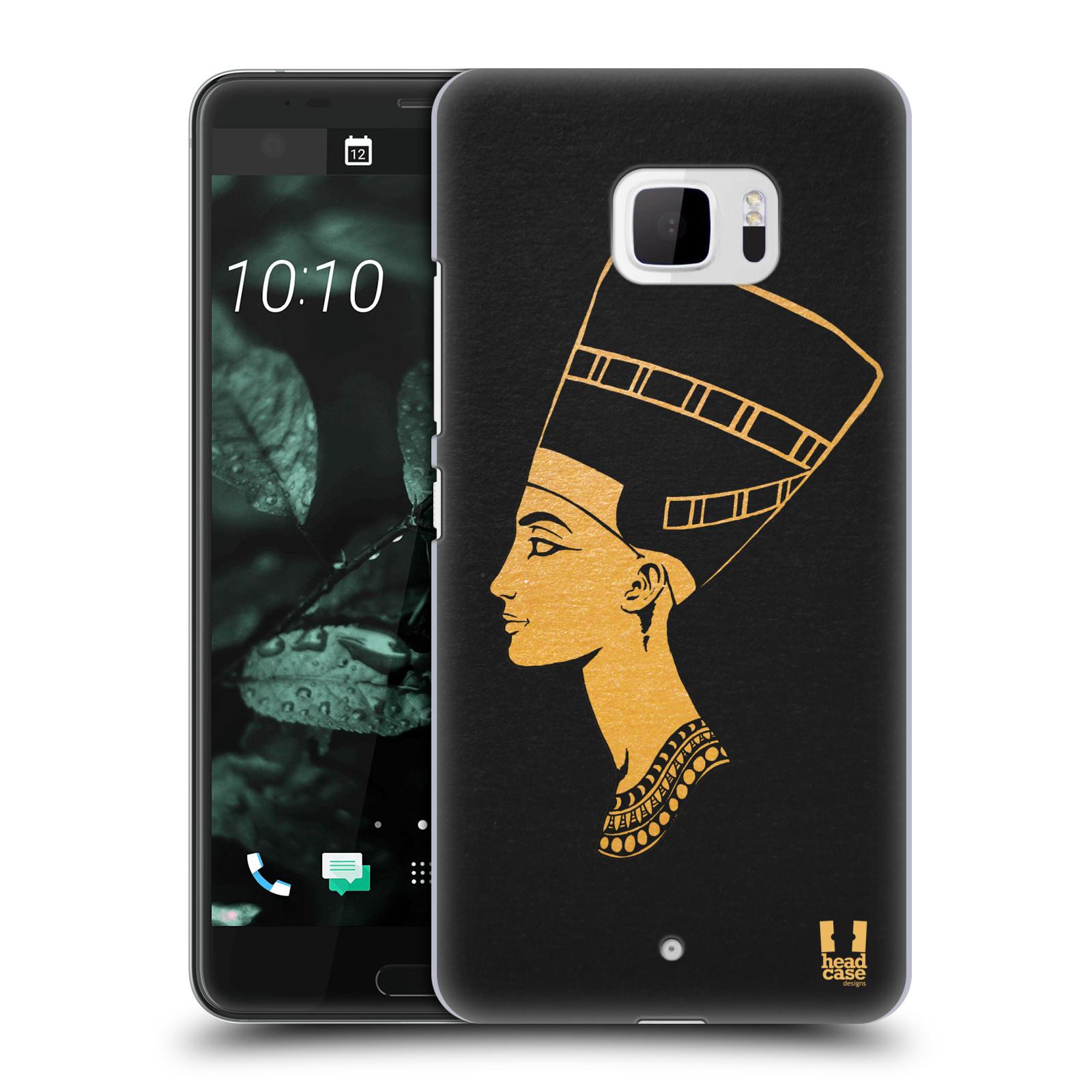 Plastové pouzdro na mobil HTC U Ultra Head Case - EGYPT NEFERTITI (Plastový kryt či obal na mobilní telefon HTC U Ultra (99HALT015-00))