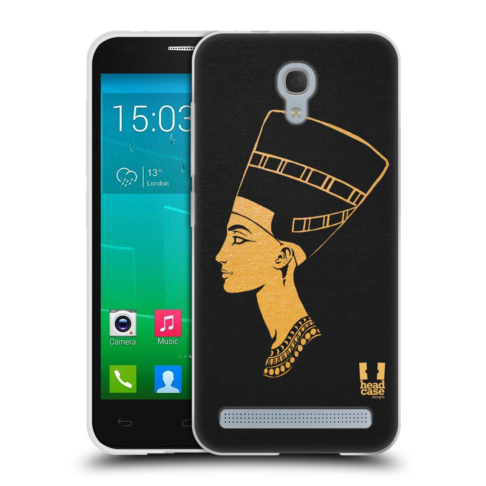 Silikonové pouzdro na mobil Alcatel One Touch Idol 2 Mini S 6036Y HEAD CASE EGYPT NEFERTITI (Silikonový kryt či obal na mobilní telefon Alcatel Idol 2 Mini S OT-6036Y)