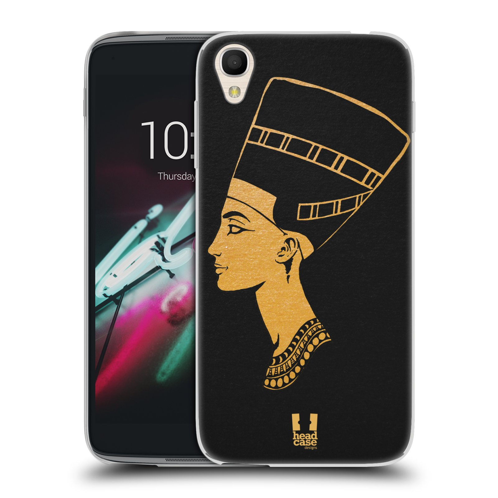 "Silikonové pouzdro na mobil Alcatel One Touch 6039Y Idol 3 HEAD CASE EGYPT NEFERTITI (Silikonový kryt či obal na mobilní telefon Alcatel One Touch Idol 3 OT-6039Y s 4,7"" displejem)"