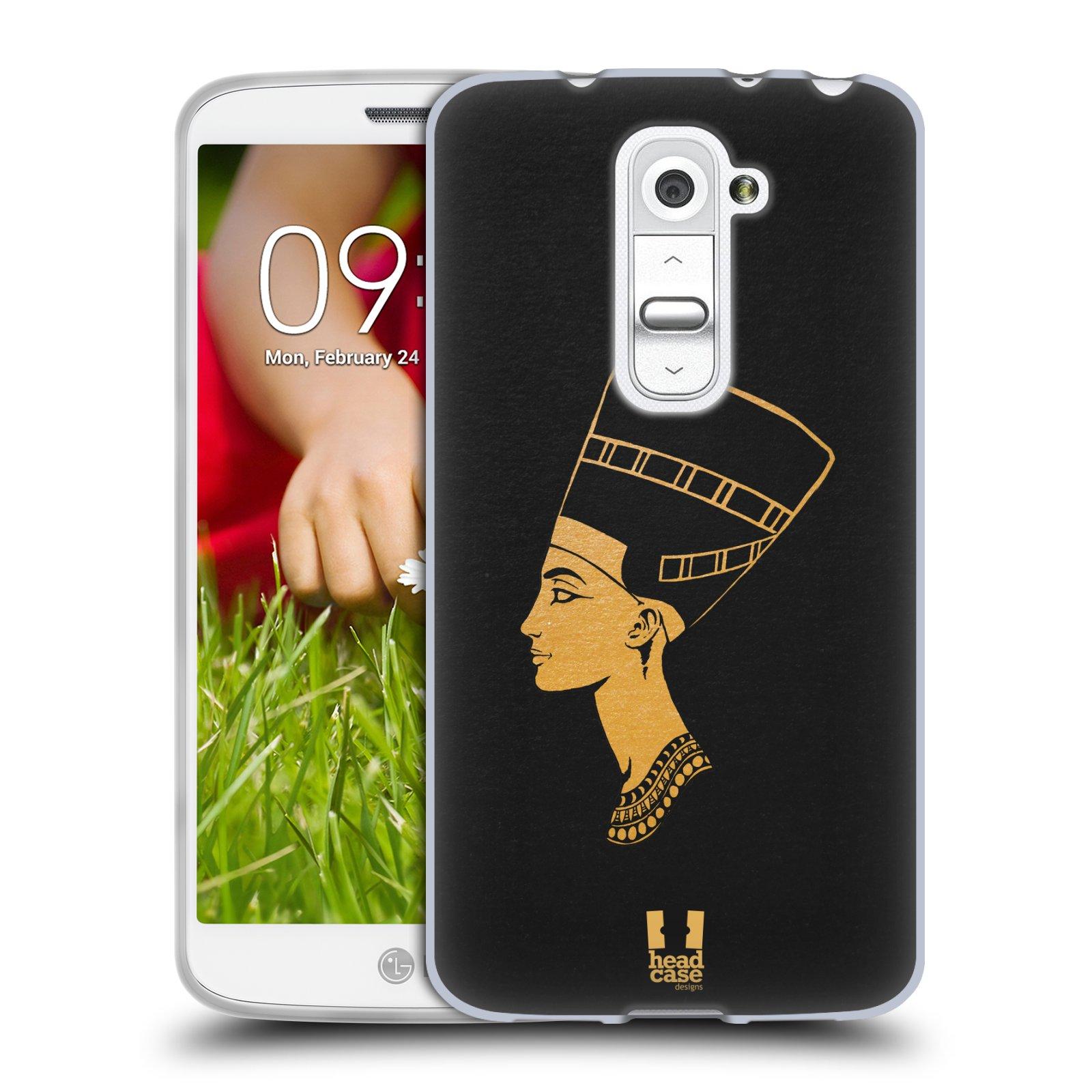 Silikonové pouzdro na mobil LG G2 Mini HEAD CASE EGYPT NEFERTITI (Silikonový kryt či obal na mobilní telefon LG G2 Mini D620)