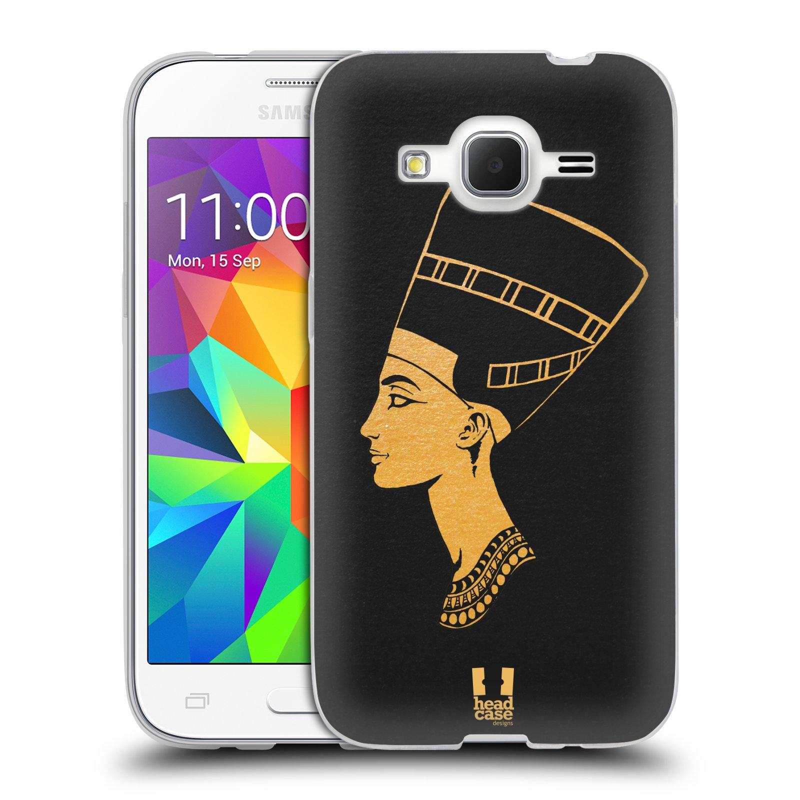 Silikonové pouzdro na mobil Samsung Galaxy Core Prime LTE HEAD CASE EGYPT NEFERTITI (Silikonový kryt či obal na mobilní telefon Samsung Galaxy Core Prime LTE SM-G360)