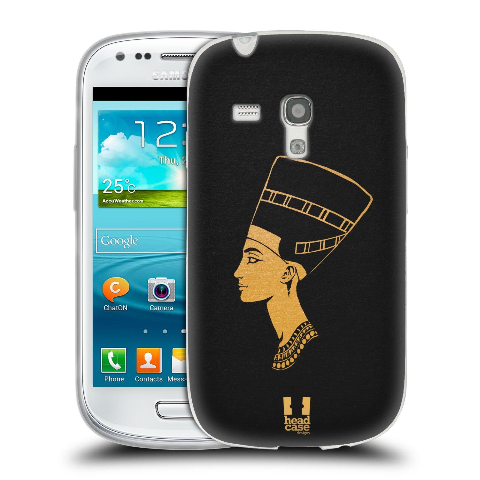 Silikonové pouzdro na mobil Samsung Galaxy S III Mini HEAD CASE EGYPT NEFERTITI (Silikonový kryt či obal na mobilní telefon Samsung Galaxy S III Mini GT-i8190)