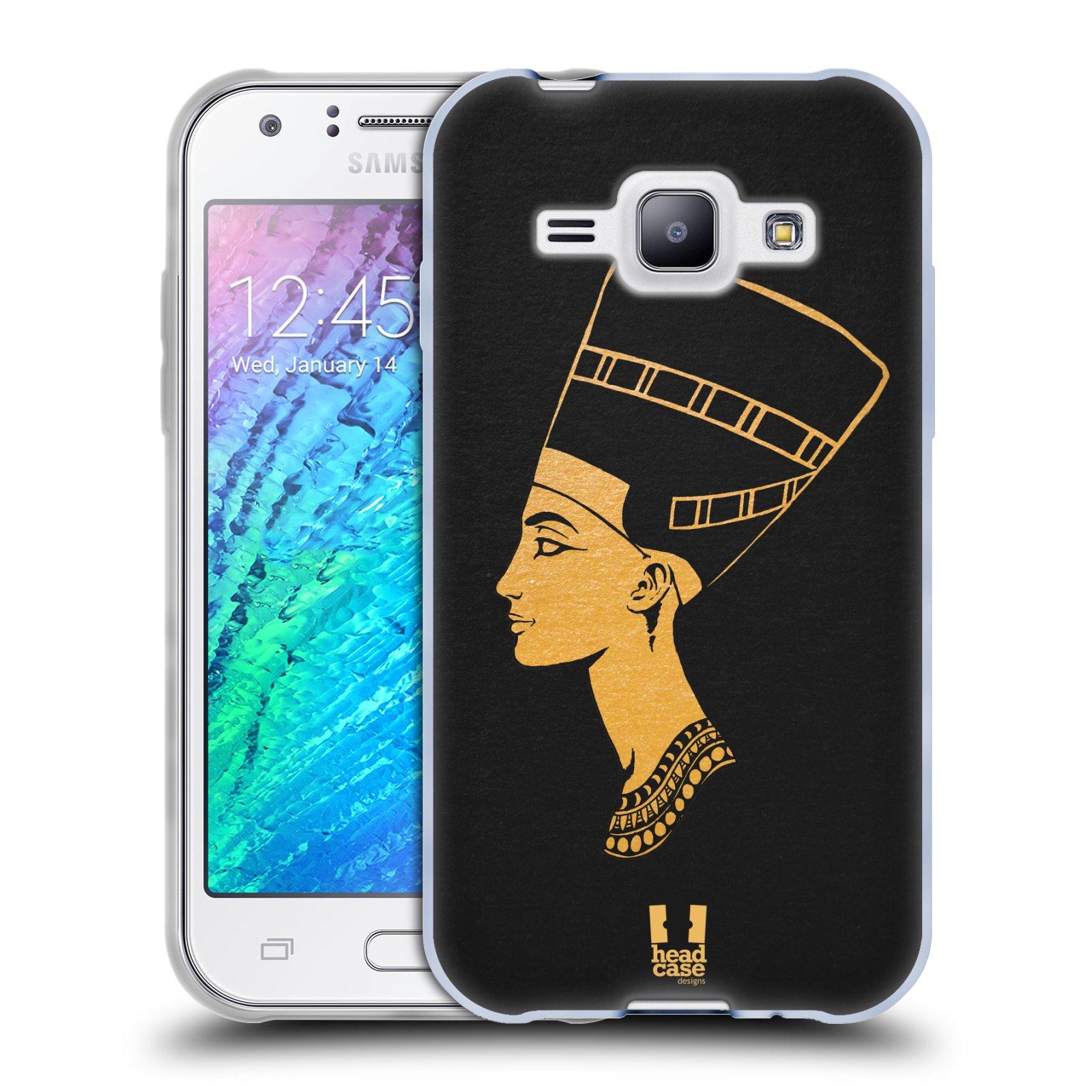 Silikonové pouzdro na mobil Samsung Galaxy J1 HEAD CASE EGYPT NEFERTITI (Silikonový kryt či obal na mobilní telefon Samsung Galaxy J1 a J1 Duos)