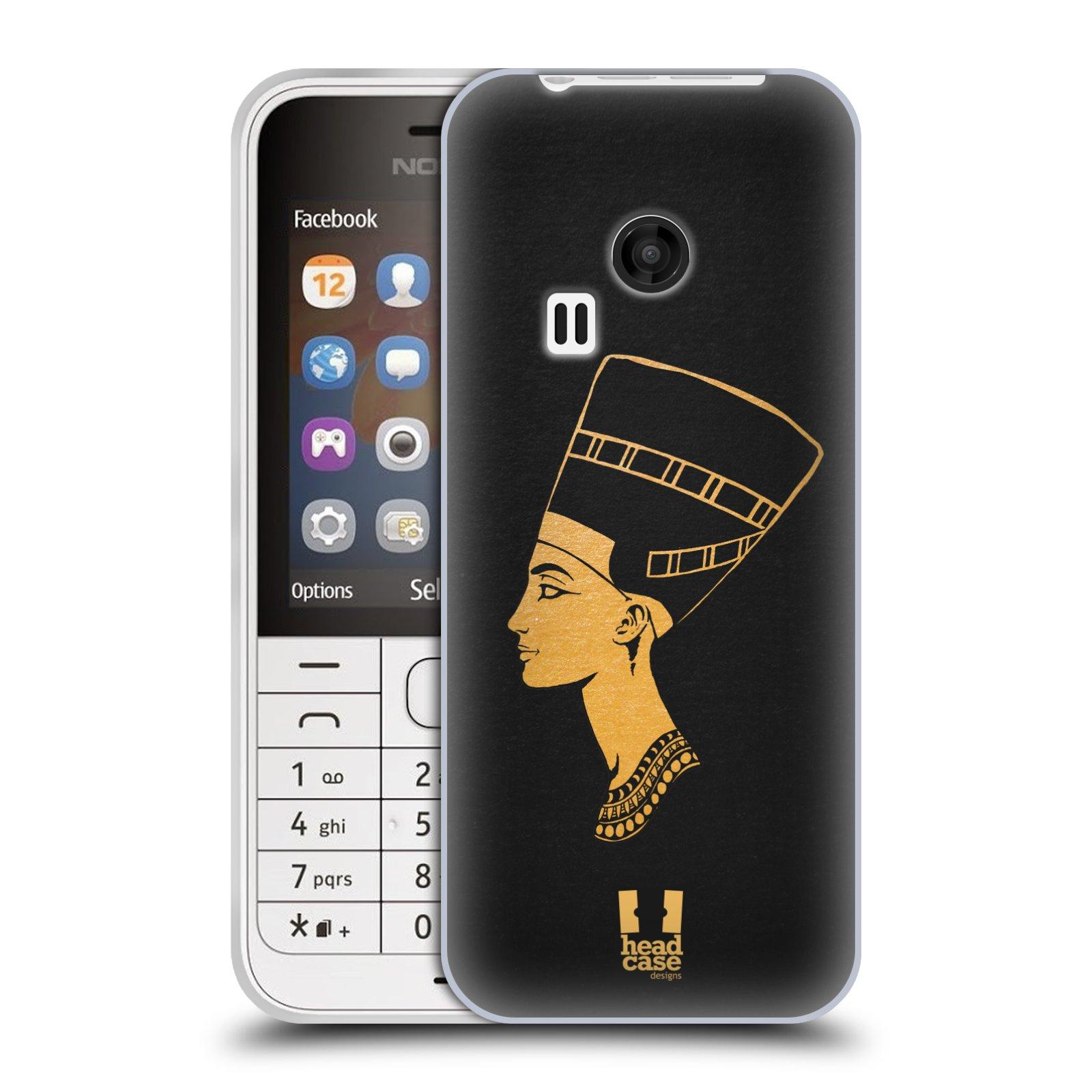 Silikonové pouzdro na mobil Nokia 220 HEAD CASE EGYPT NEFERTITI (Silikonový kryt či obal na mobilní telefon Nokia 220 a 220 Dual SIM)