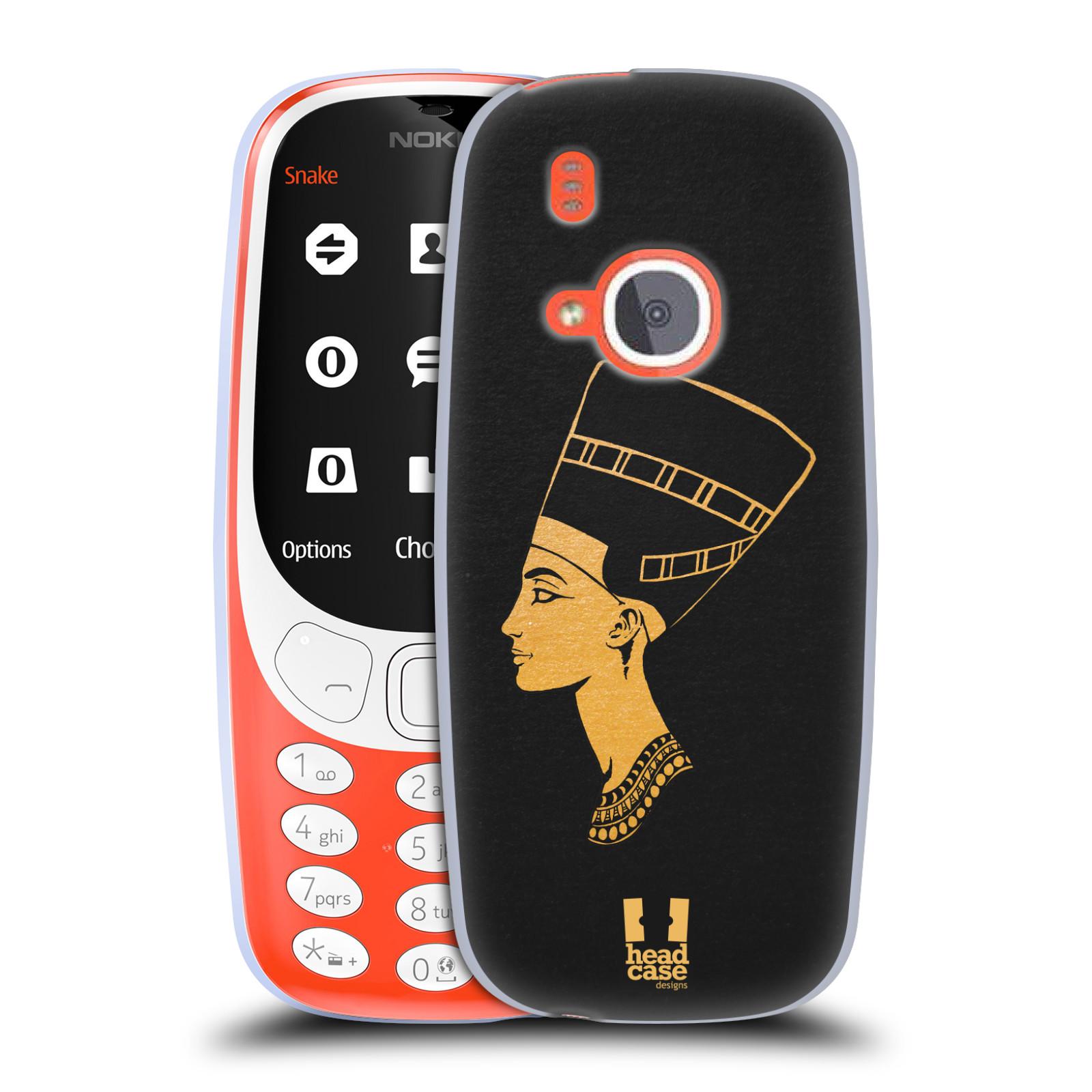 Silikonové pouzdro na mobil Nokia 3310 - Head Case - EGYPT NEFERTITI (Silikonový kryt či obal na mobilní telefon Nokia 3310 (2017) s motivem EGYPT NEFERTITI)
