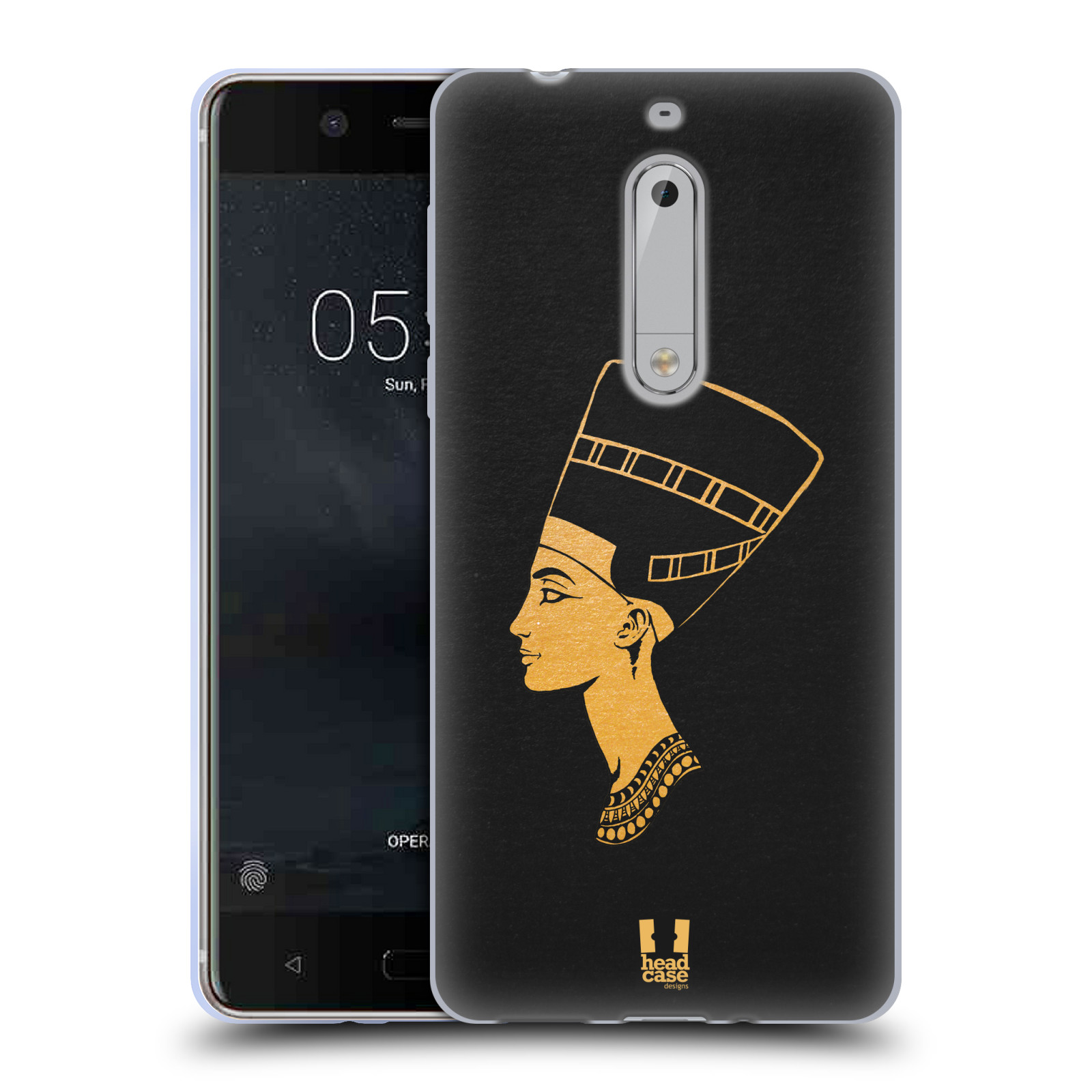 Silikonové pouzdro na mobil Nokia 5 Head Case - EGYPT NEFERTITI