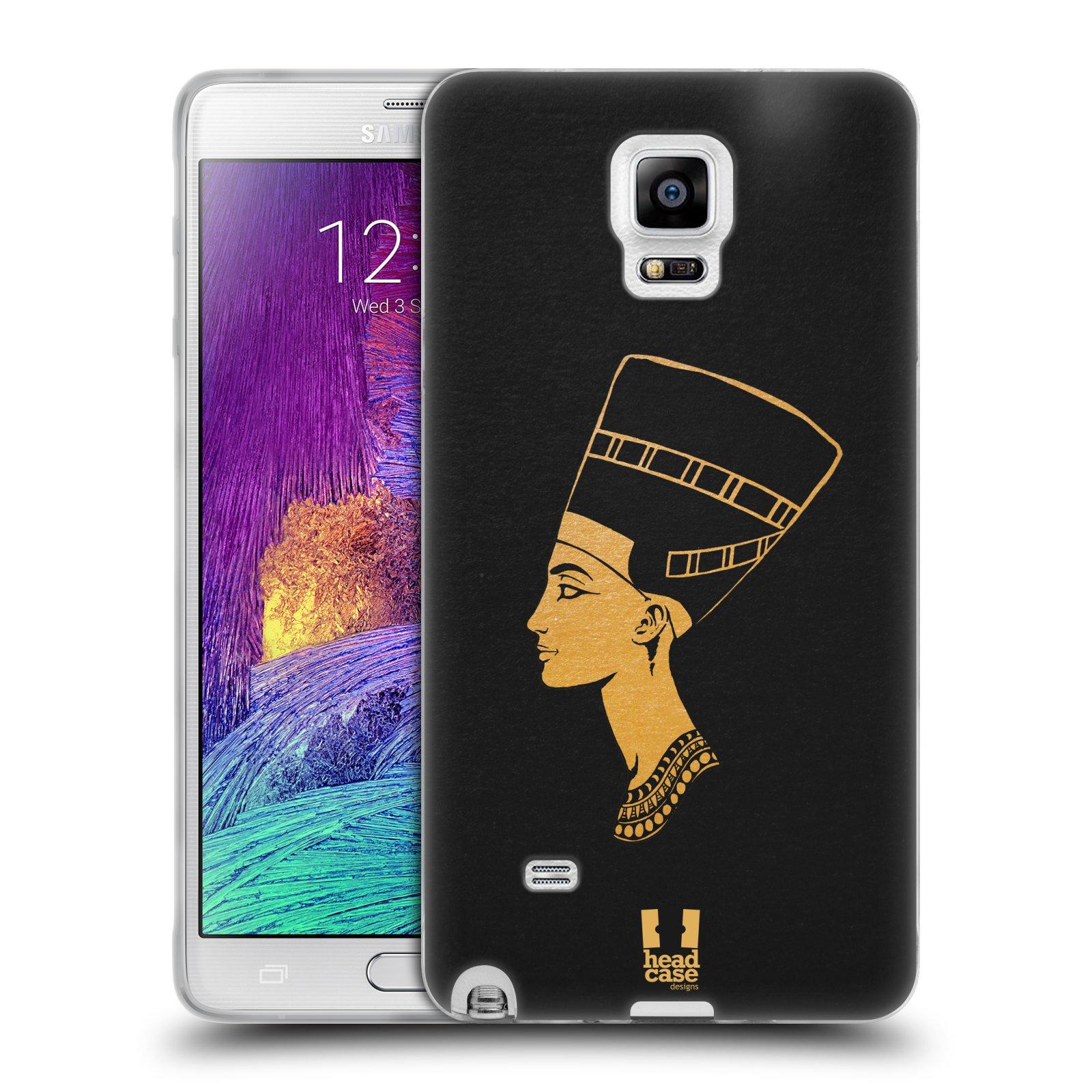 Silikonové pouzdro na mobil Samsung Galaxy Note 4 HEAD CASE EGYPT NEFERTITI (Silikonový kryt či obal na mobilní telefon Samsung Galaxy Note 4 SM-N910F)