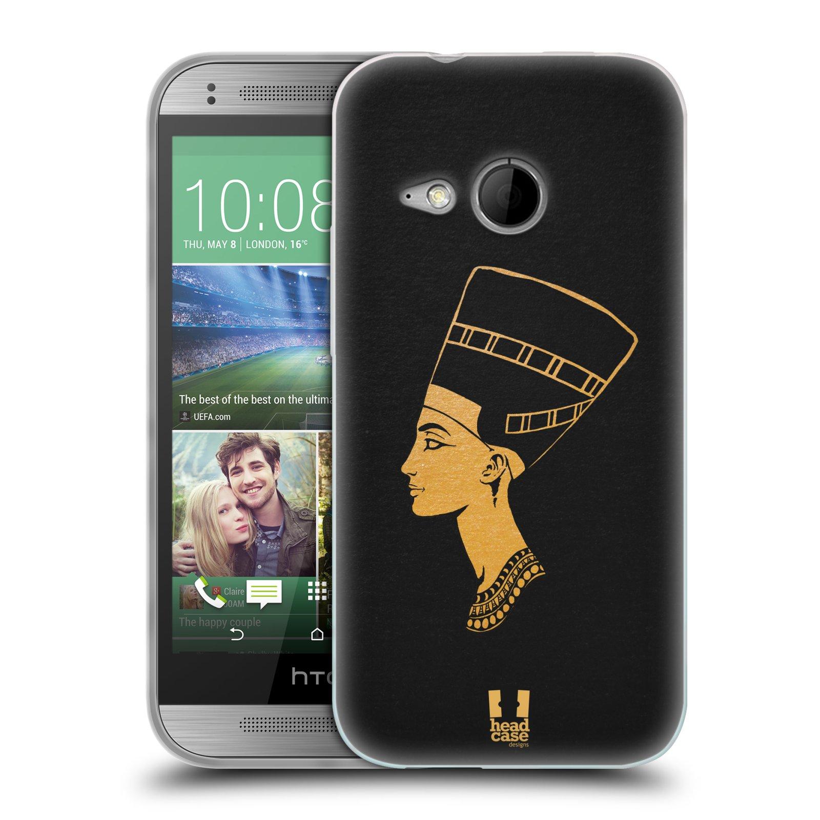 Silikonové pouzdro na mobil HTC ONE Mini 2 HEAD CASE EGYPT NEFERTITI (Silikonový kryt či obal na mobilní telefon HTC ONE Mini 2)
