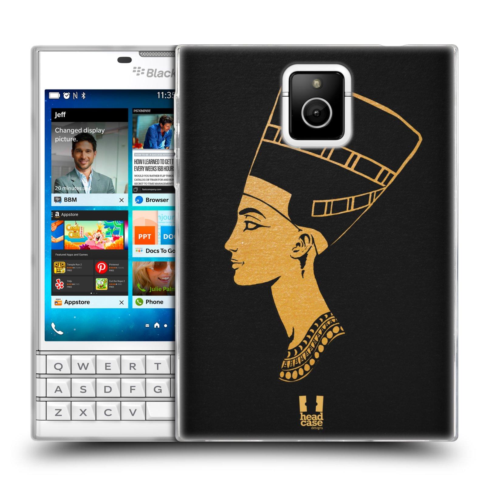 Silikonové pouzdro na mobil Blackberry PASSPORT HEAD CASE EGYPT NEFERTITI (Silikonový kryt či obal na mobilní telefon Blackberry PASSPORT)