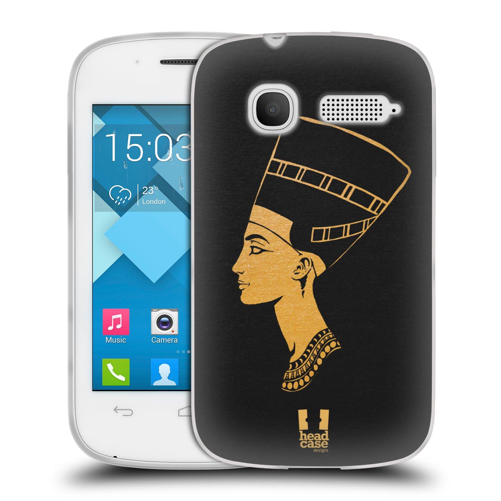 Silikonové pouzdro na mobil Alcatel One Touch Pop C1 HEAD CASE EGYPT NEFERTITI (Silikonový kryt či obal na mobilní telefon Alcatel OT-4015D POP C1)