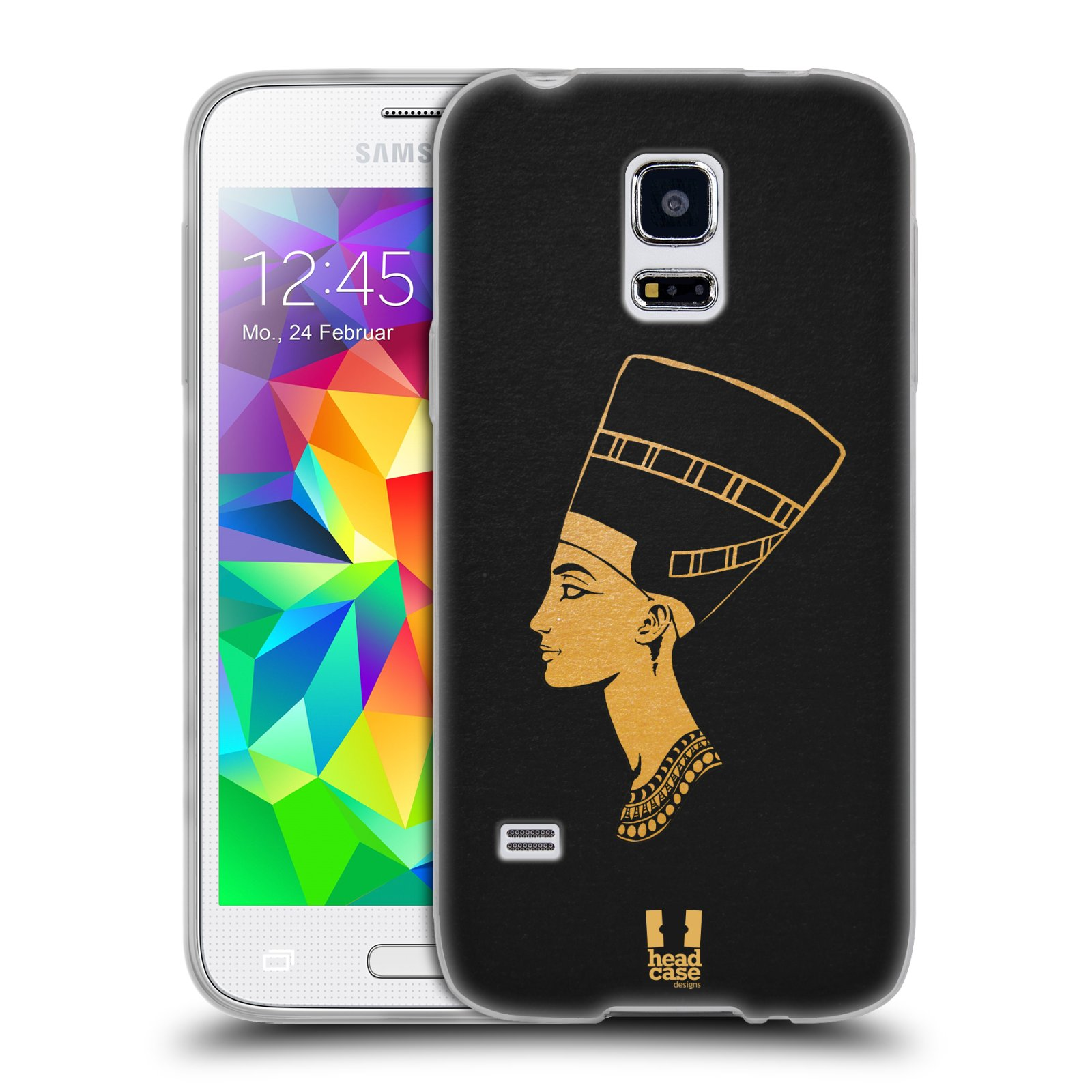Silikonové pouzdro na mobil Samsung Galaxy S5 Mini HEAD CASE EGYPT NEFERTITI (Silikonový kryt či obal na mobilní telefon Samsung Galaxy S5 Mini SM-G800F)