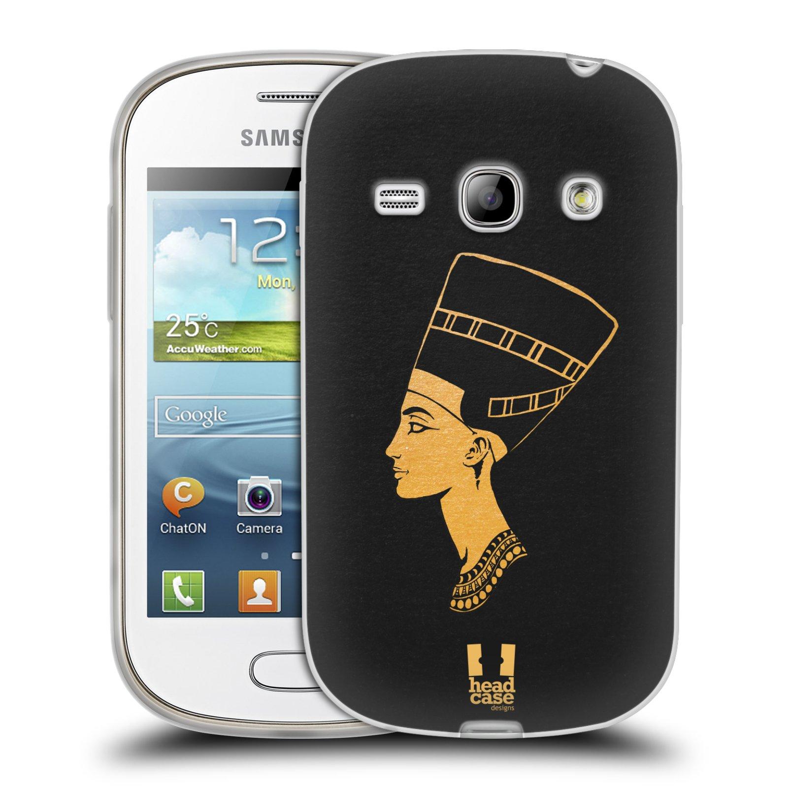 Silikonové pouzdro na mobil Samsung Galaxy Fame HEAD CASE EGYPT NEFERTITI (Silikonový kryt či obal na mobilní telefon Samsung Galaxy Fame GT-S6810)